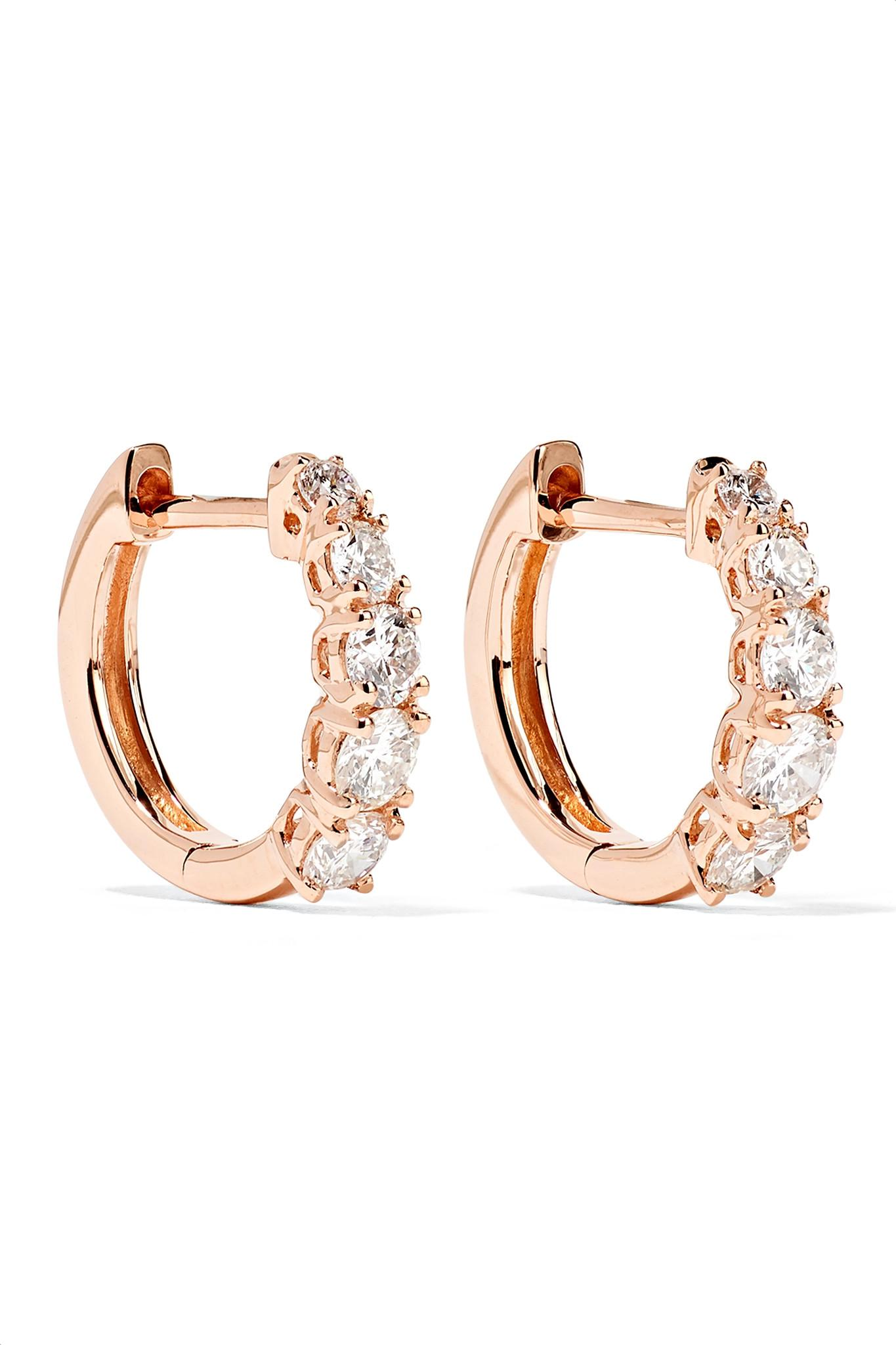 Anita Ko Huggies 18-karat Gold Diamond Earrings HC2FL089jb
