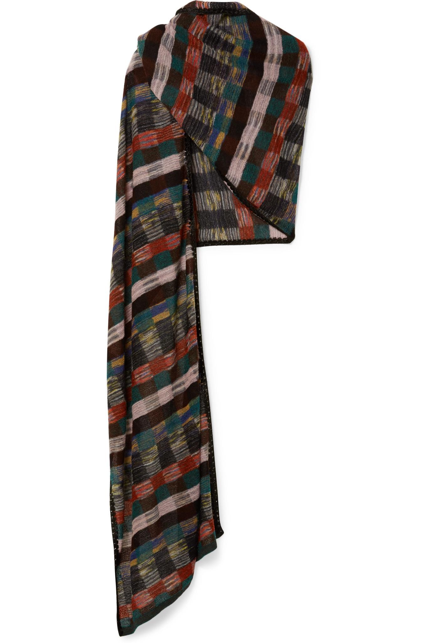 465e995ce461 Lyst - Écharpe En Mailles Crochetées Métallisées Missoni en coloris Noir