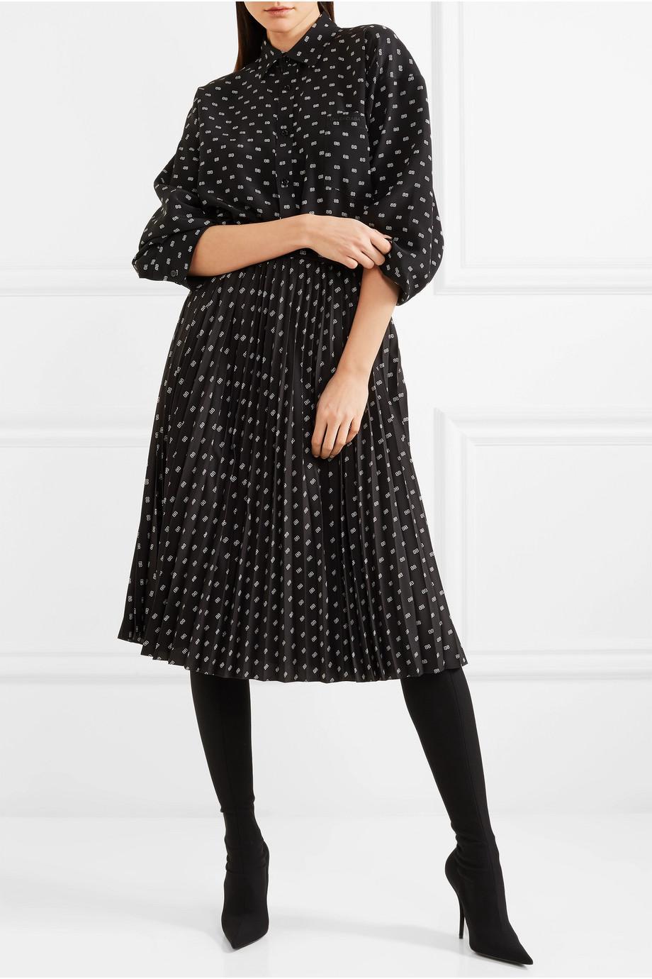 2177fc617a20 balenciaga-black-Sunray-Pleated-Printed-Satin-Skirt.jpeg