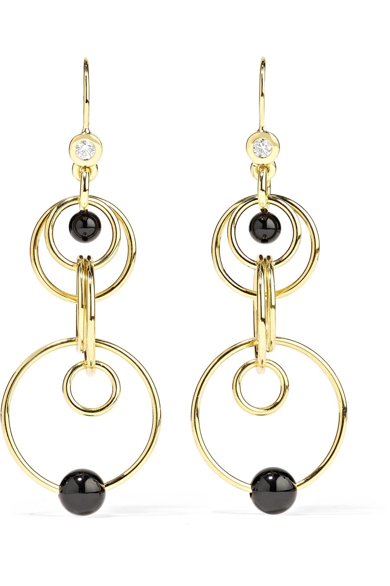 Ippolita Nova 18-karat Gold Onyx Earrings bOBWo