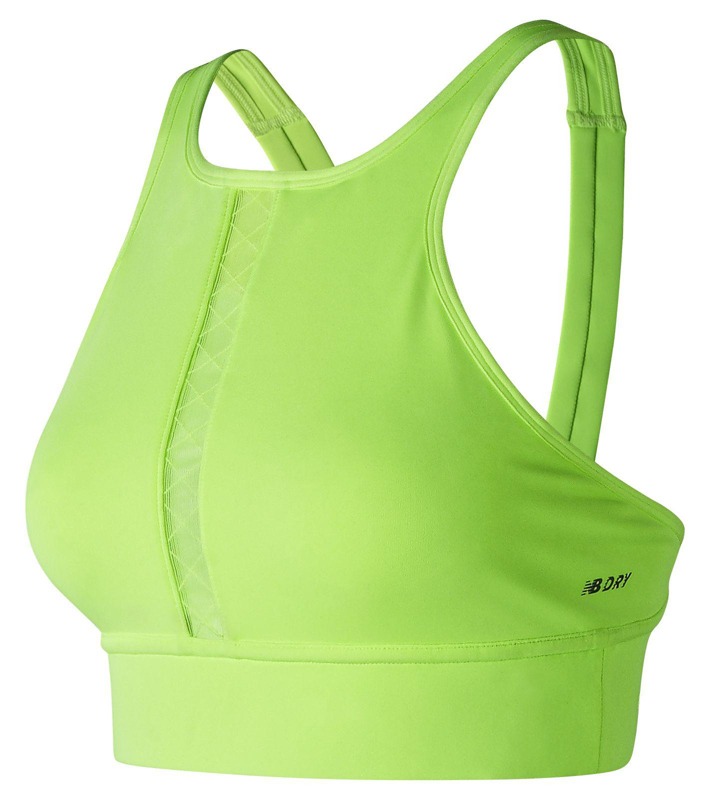 cfbb379d3dcdc Lyst - New Balance Nb Beyond Bra in Green