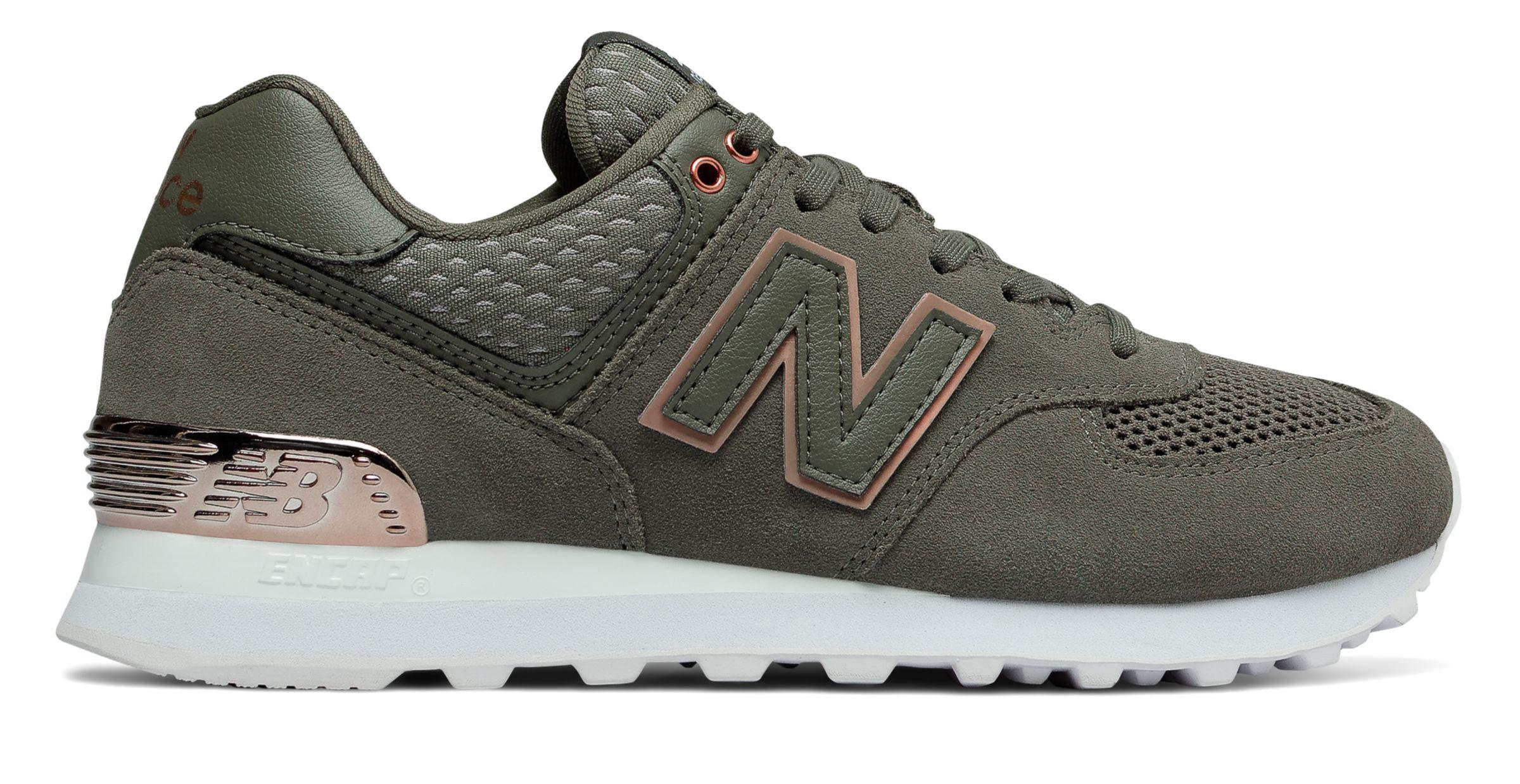 best sneakers 68cad 85e91 New Balance 574 All Day Rose in Green - Lyst