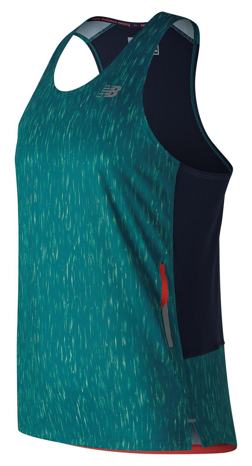 5e3595ad29c91 New Balance Printed Nb Ice 2e Singlet in Blue - Lyst