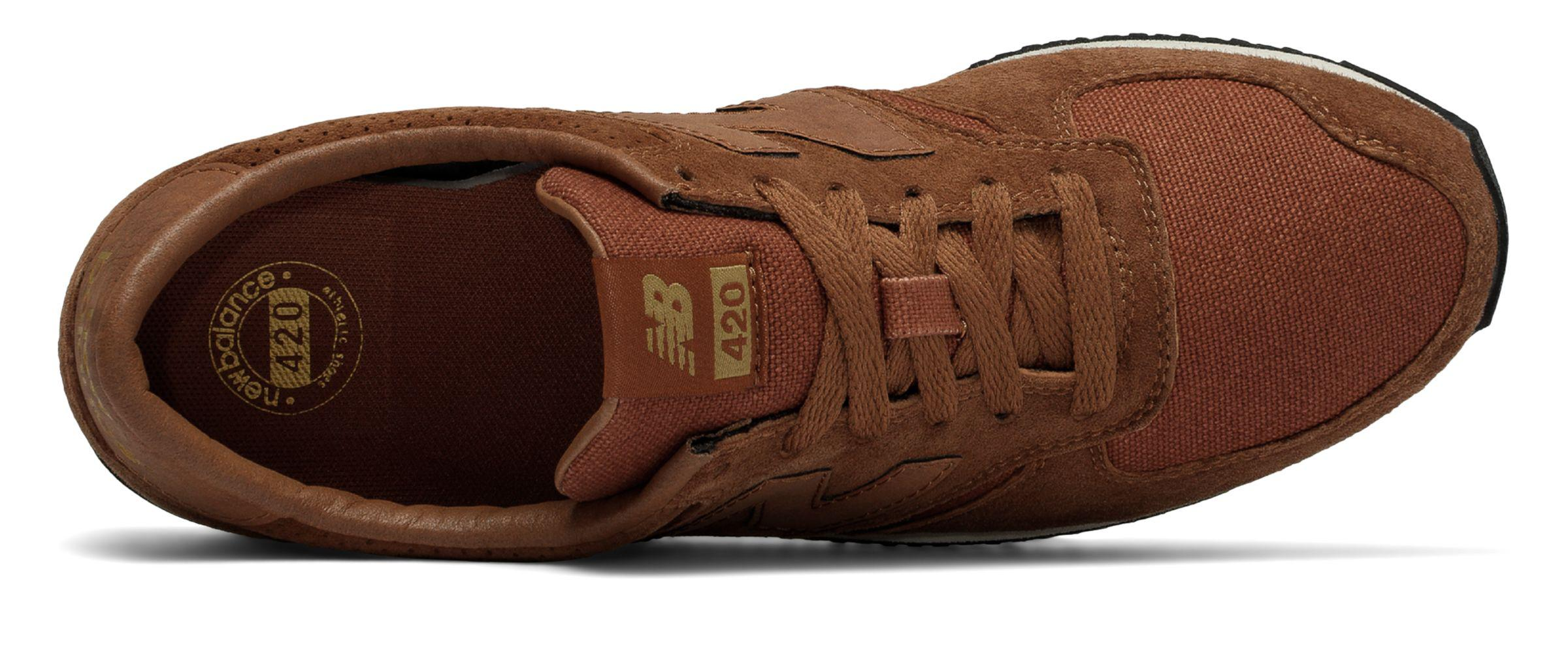 huge discount 25ba0 3a2d1 New Balance 420 70s Running Pigskin in Brown - Lyst