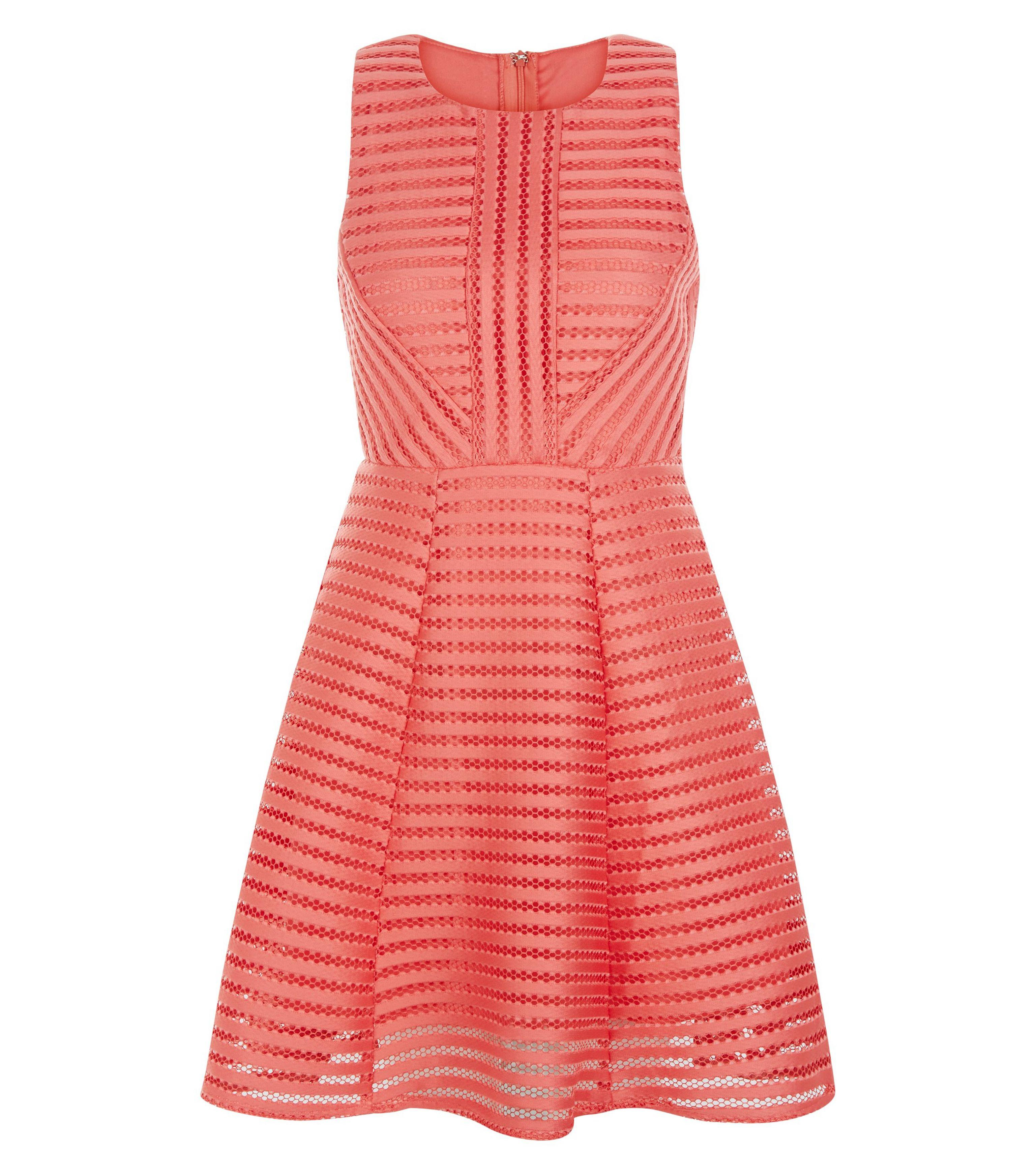 8e2aa411c045 Ax Paris Coral Ladder Skater Dress in Pink - Lyst