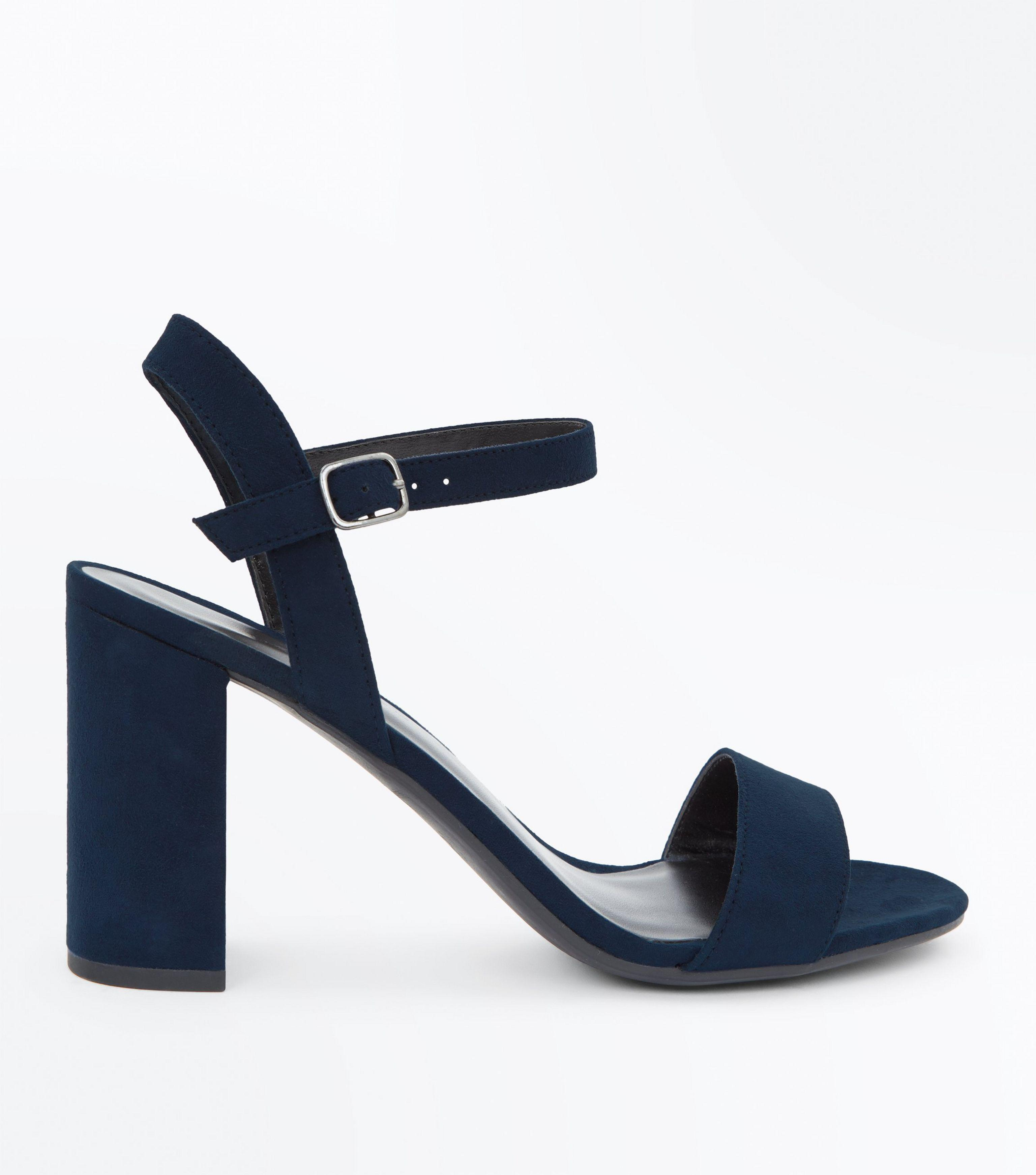 39f8c01c7a457 Previously sold at: New Look. Gallery. Previously sold at: New Look. New  Look Navy Blue Suedette Block Heel Sandals in Blue - Lyst pic