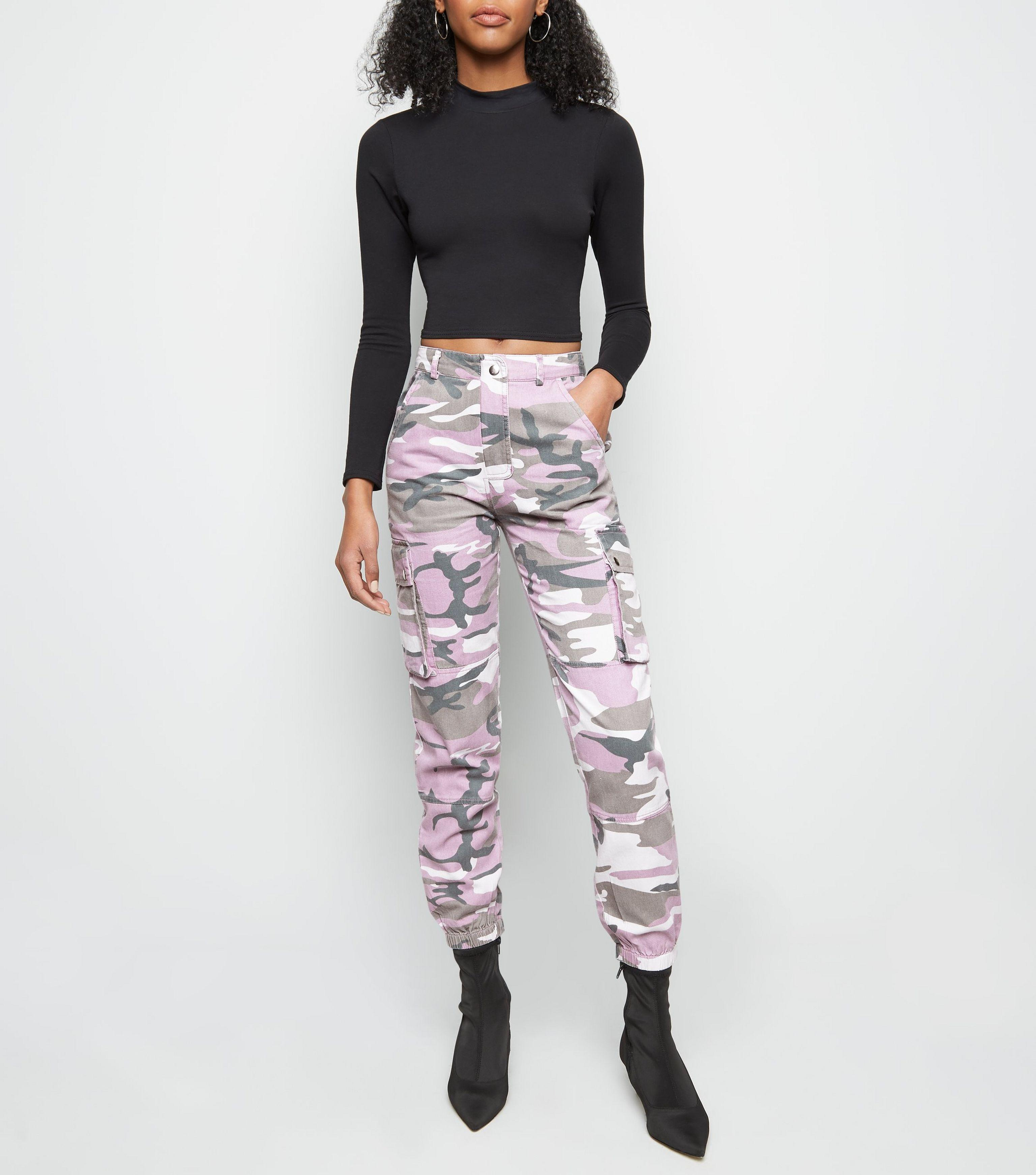 wholesale online buy real detailing Pink Camo Print Utility Trousers