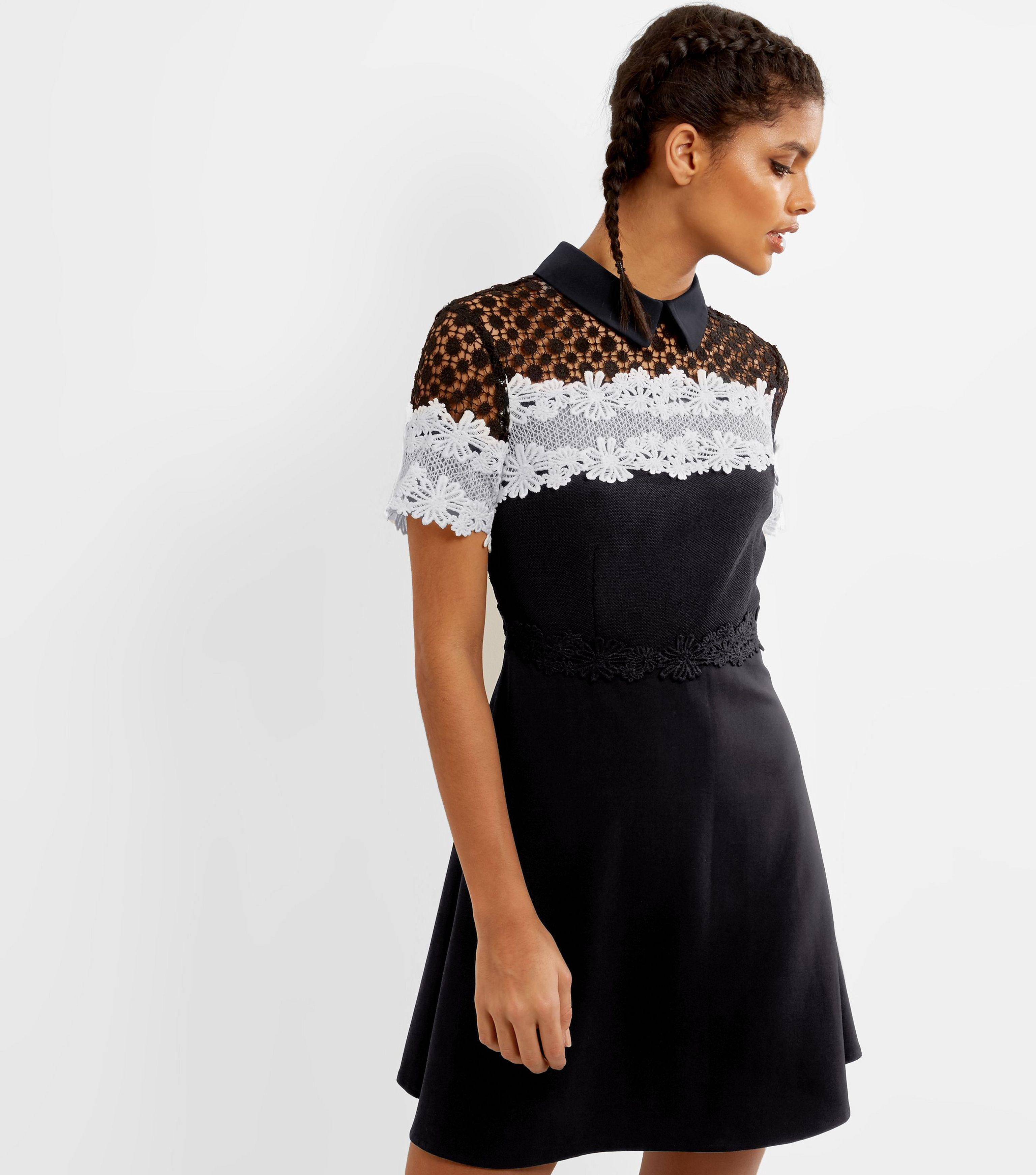1a5eead3b57 New Look Black Lace Skater Dress - Gomes Weine AG