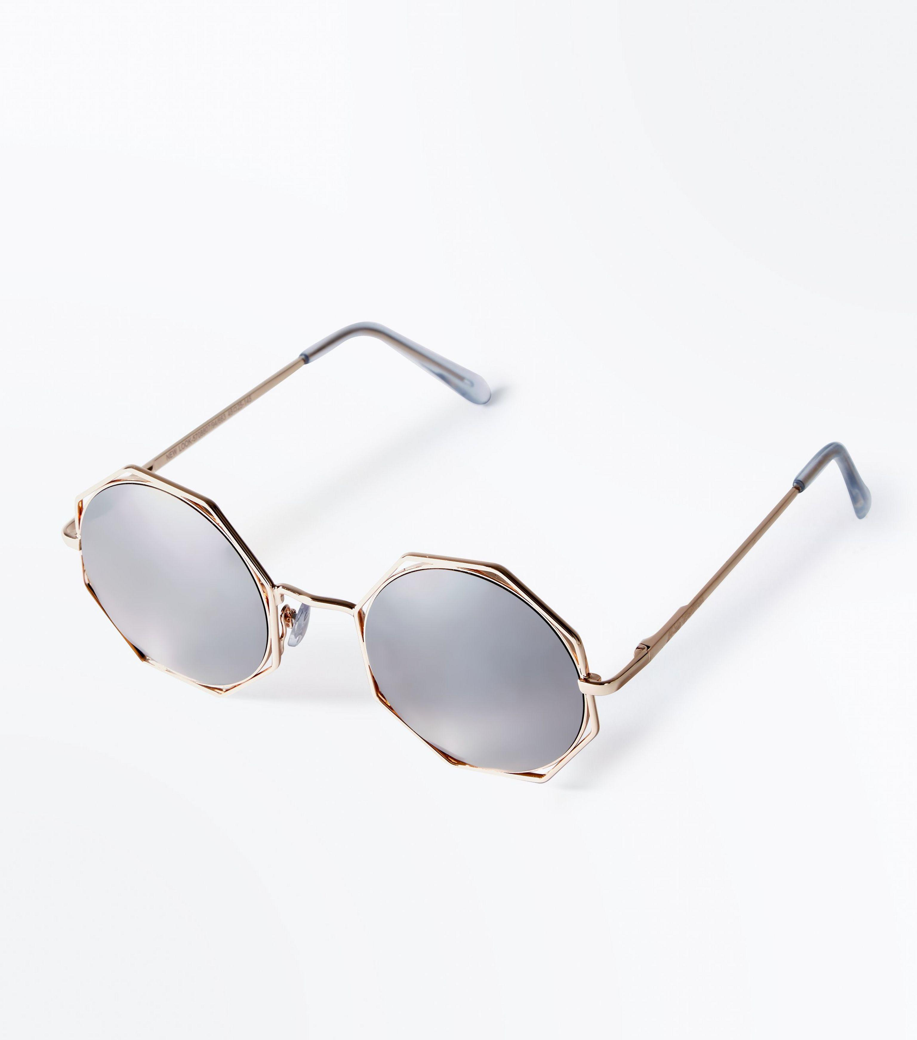 491ad0097 Gallery. Previously sold at: New Look · Women's Mirrored Sunglasses ...