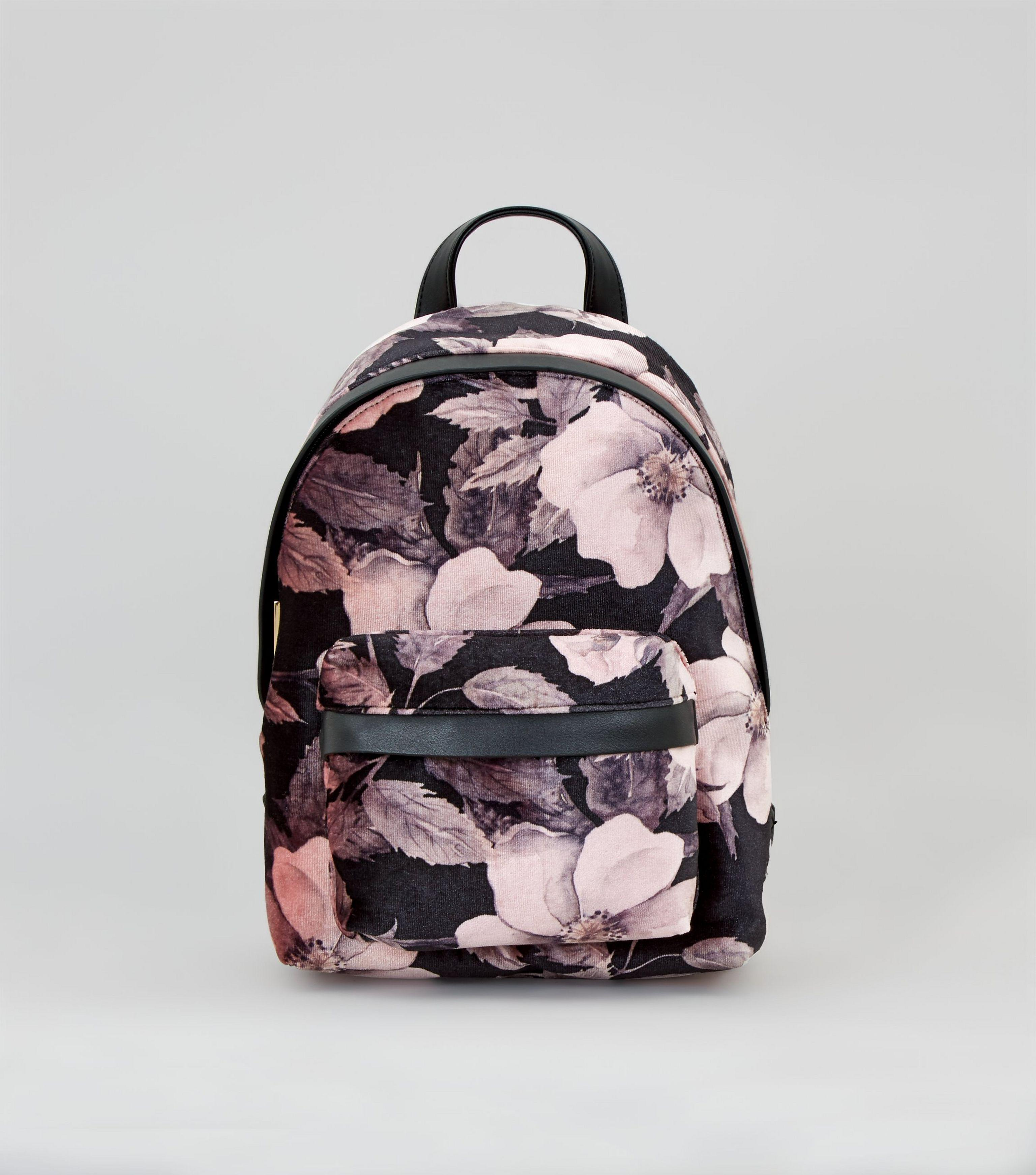 New Look Grey Floral Backpack - Swiss Paralympic