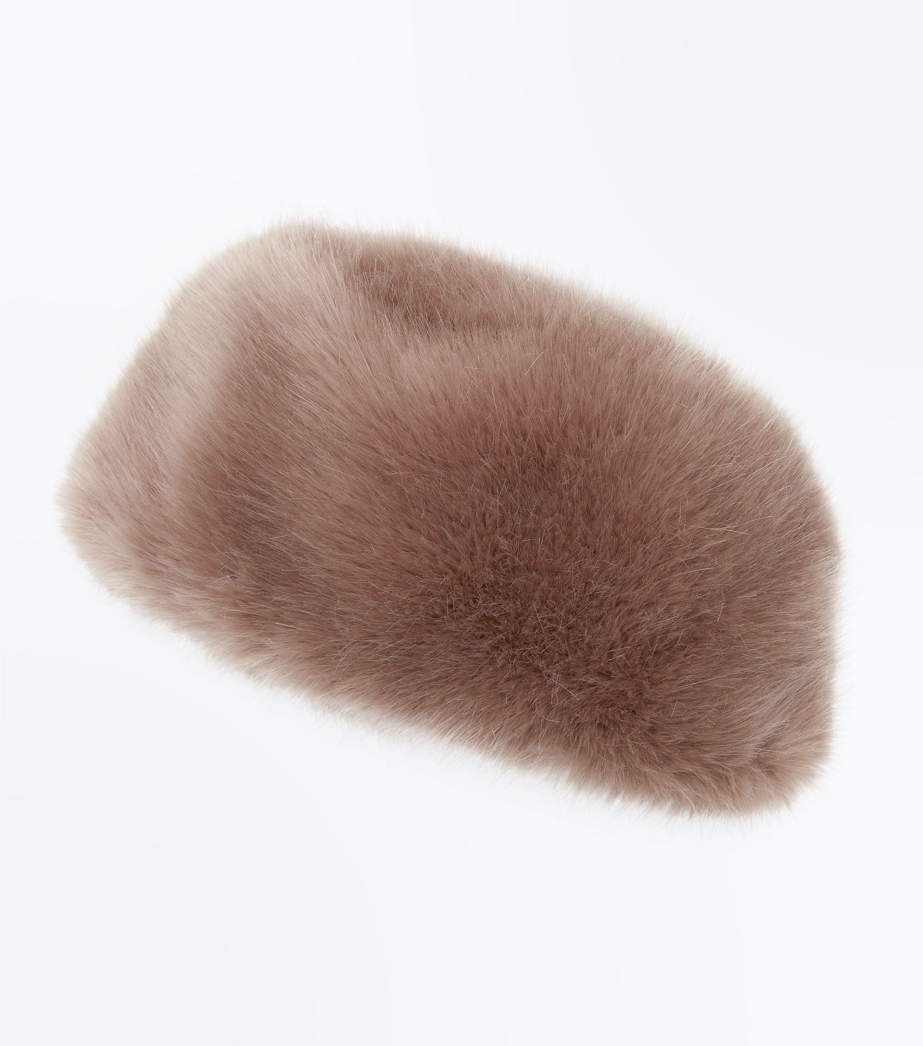 9911bb3817e New Look Mink Faux Fur Cossack Hat in Brown - Lyst