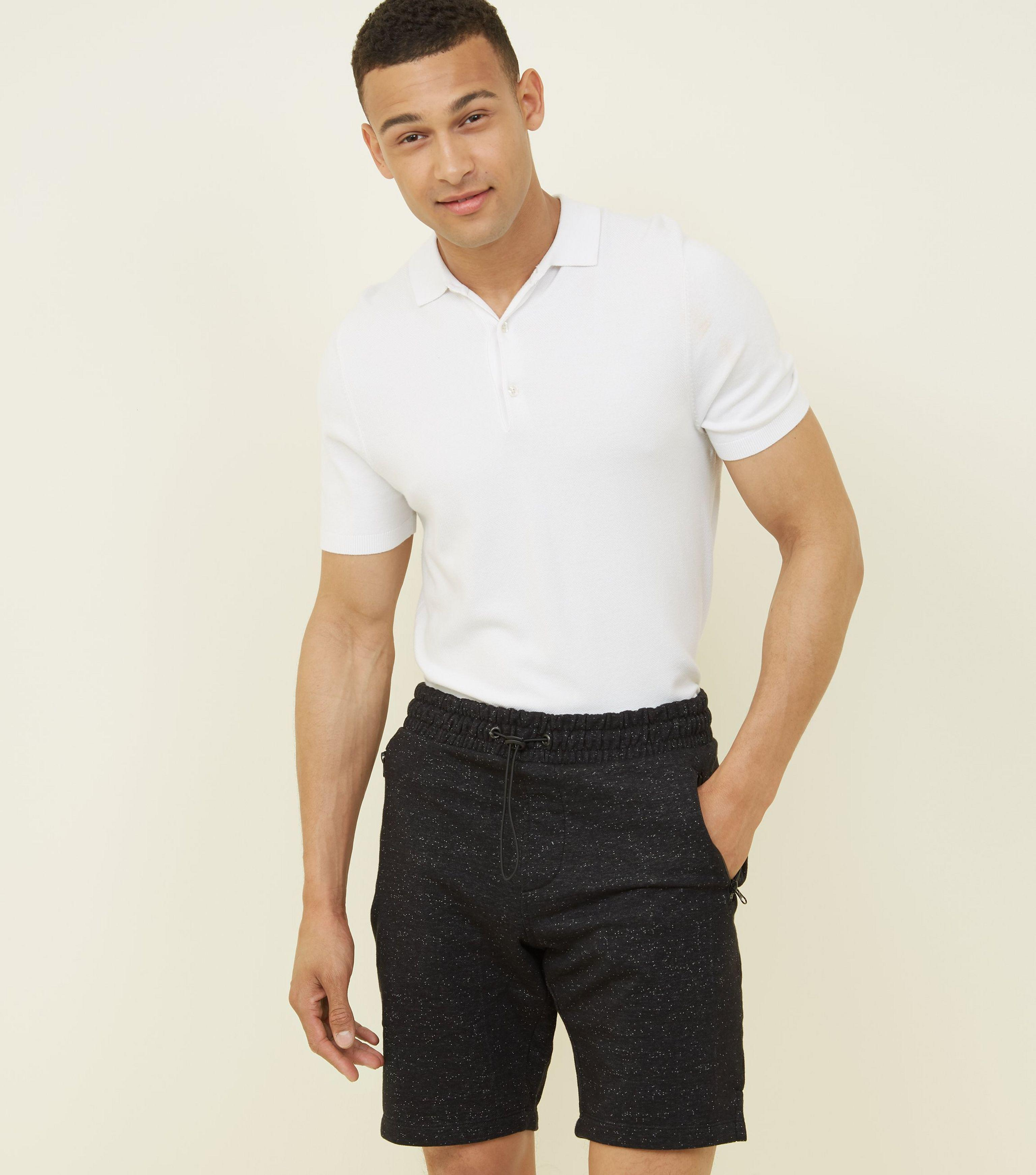 Mens Textured Jersey Shorts New Look sf0dtDq1SZ