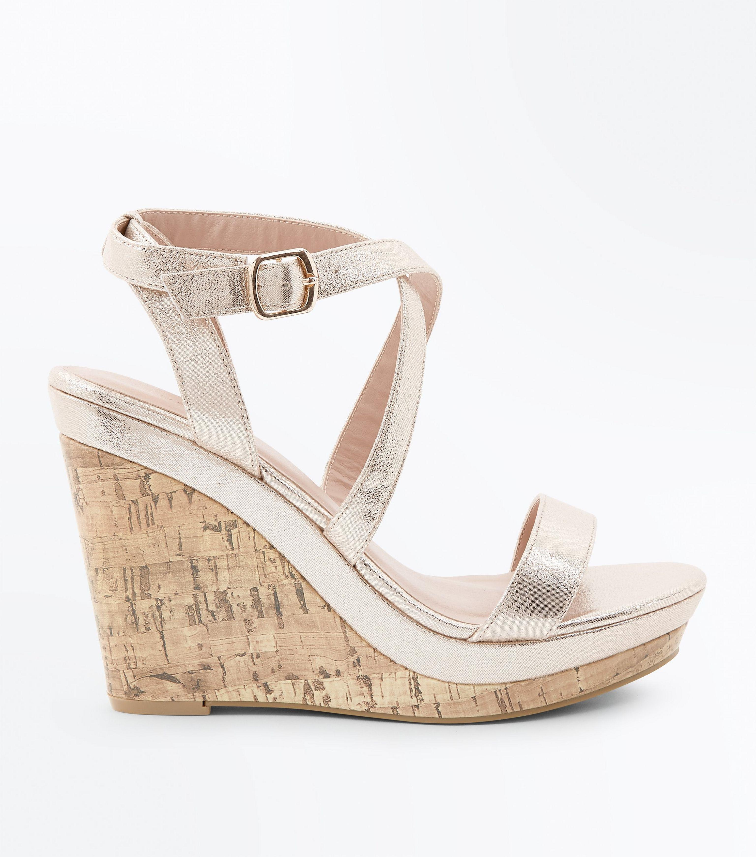 ab3951cfd6dd Gallery. Previously sold at  New Look · Women s Gold Sandals ...