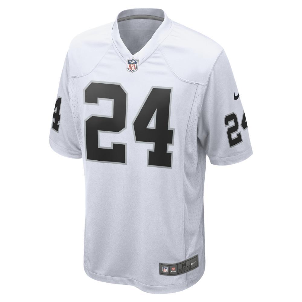7a2666952 Nike. White Nfl Oakland Raiders (marshawn Lynch) Men s Football Away Game  Jersey