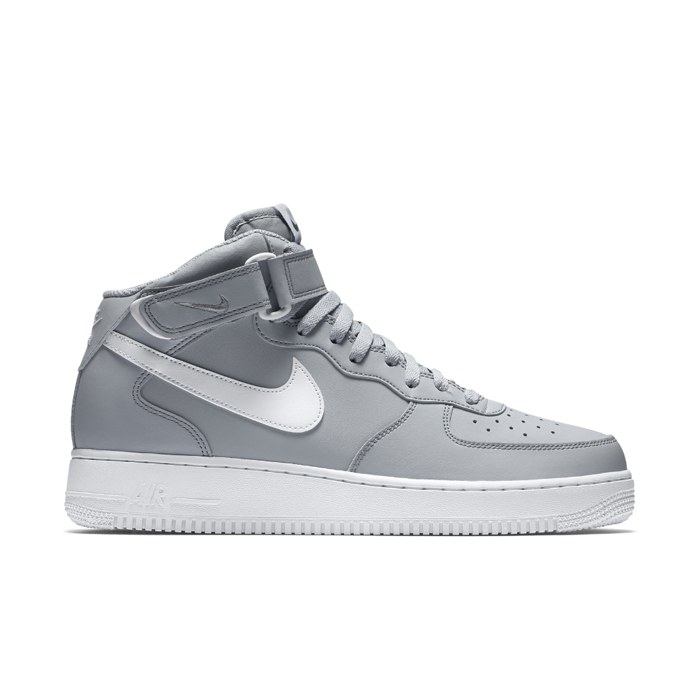 nike air force 1 mid 07 men 39 s shoe in gray for men lyst. Black Bedroom Furniture Sets. Home Design Ideas