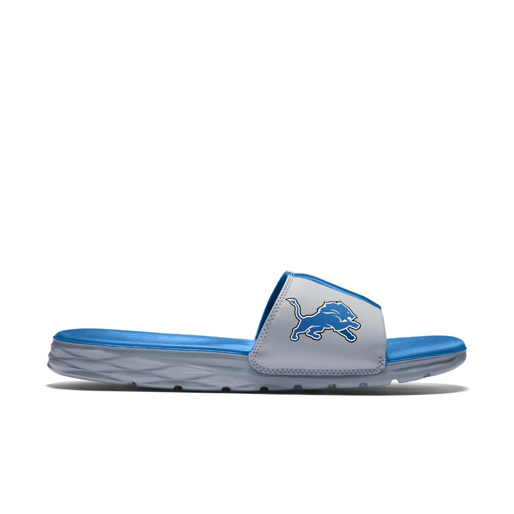 Nike Benassi Solarsoft Nfl Lions Men S Slide Sandal In