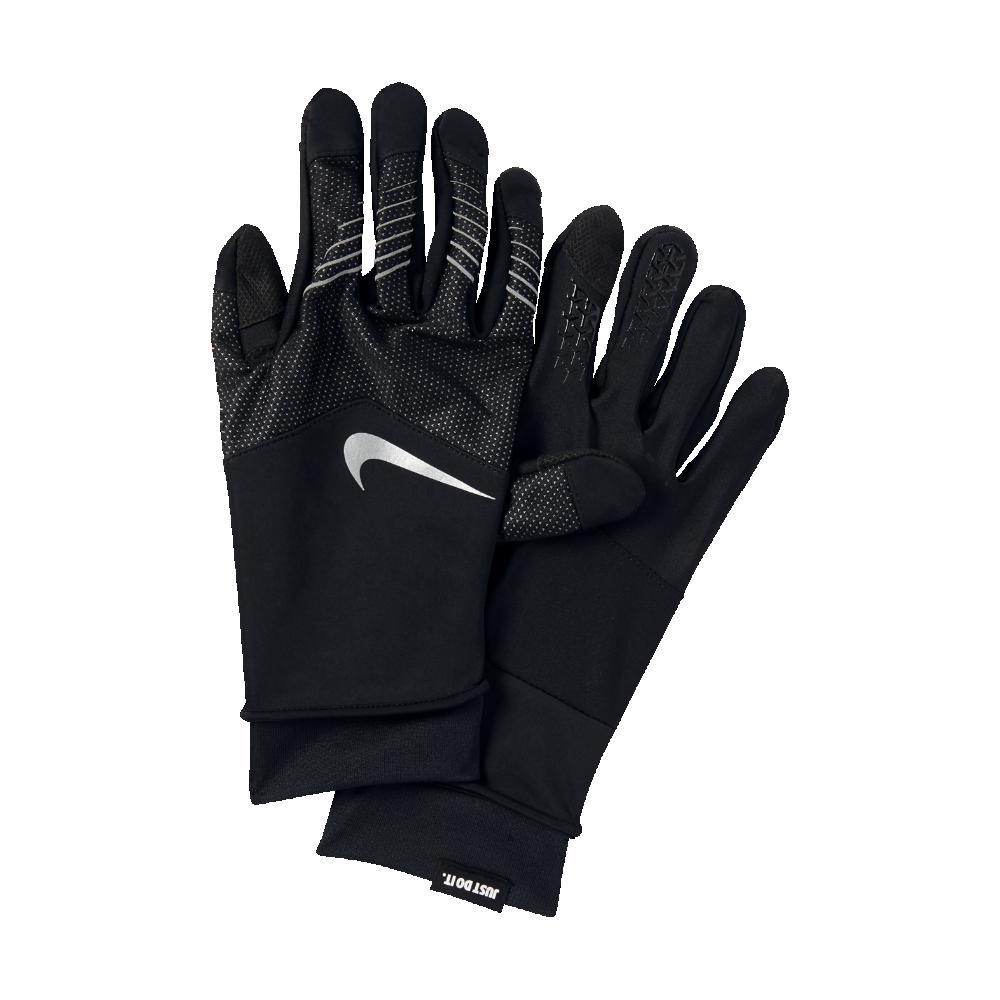Nike Gloves Touch Screen: Nike Storm-fit Hybrid Men's Running Gloves In Black For