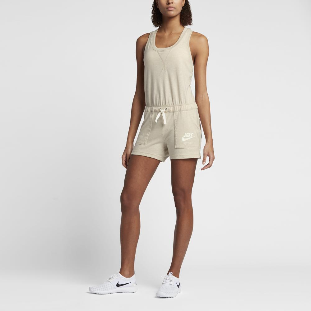015107133b06 Lyst - Nike Sportswear Gym Vintage Women s Romper in Natural