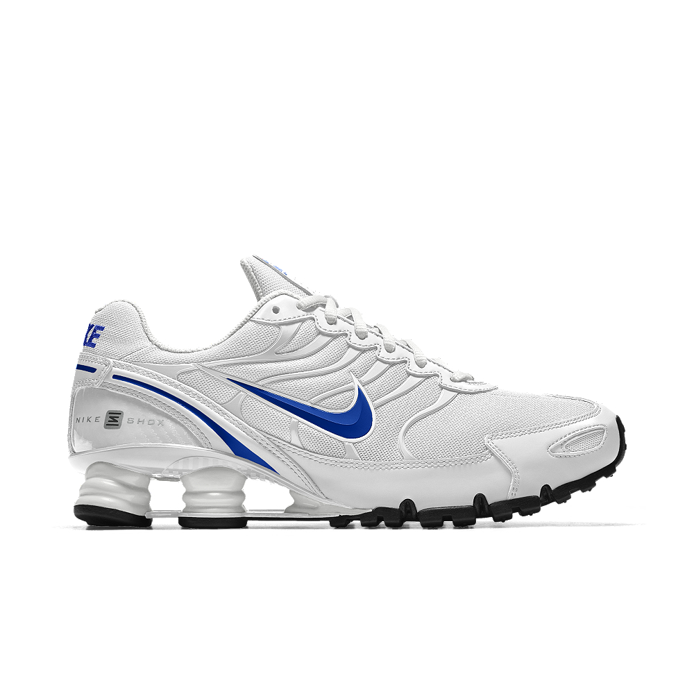 premium selection 1b27c 0b933 ... shop lyst nike shox turbo vi id womens shoe in white 8f798 f8aa1