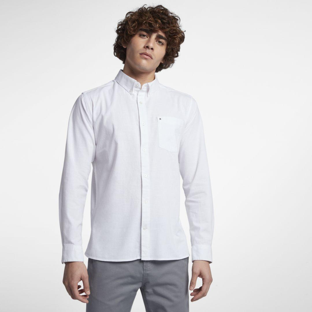 b0895870 Nike Hurley One And Only Long-sleeve Shirt in White for Men - Lyst