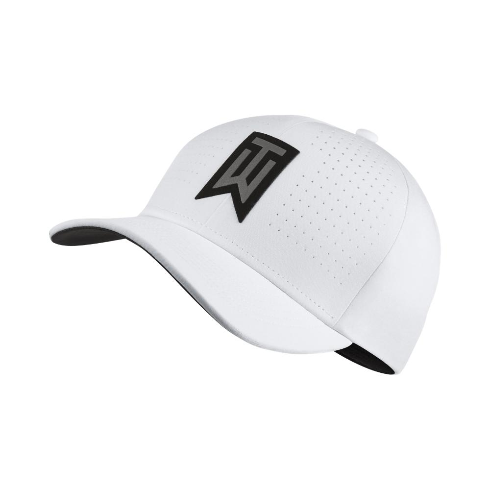 32146df3b8b Lyst - Nike Tw Classic 99 Statement Fitted Golf Hat in White for Men