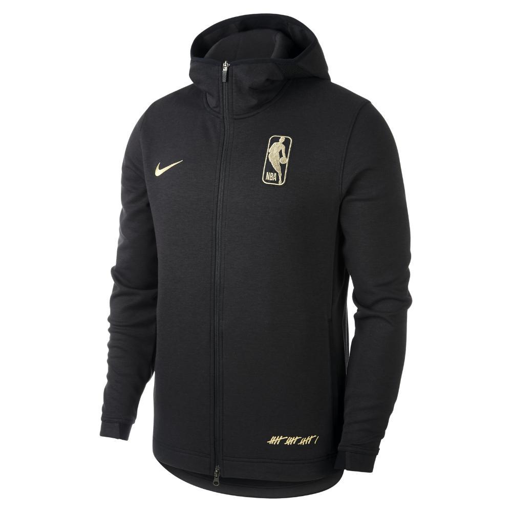 new product 8c663 d242f Nike Dri-fit Showtime Association Men s Full-zip Nba Hoodie in Black ...
