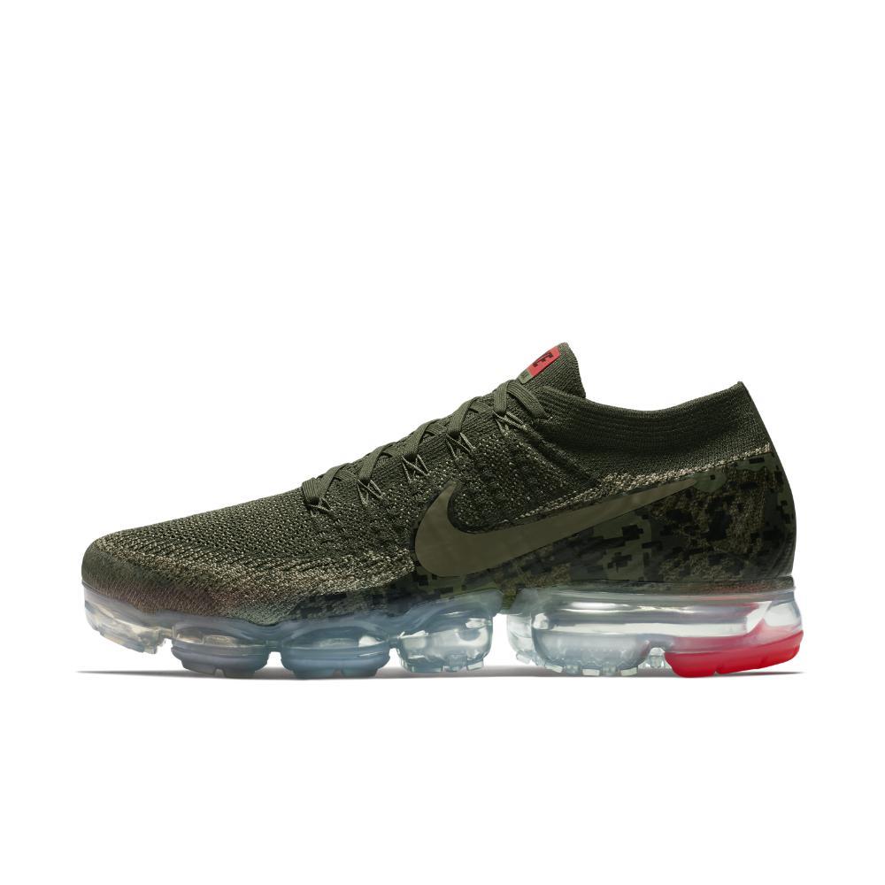 1ff2d412e8d0 Nike - Green Air Vapormax Flyknit Camo Men s Running Shoe for Men - Lyst