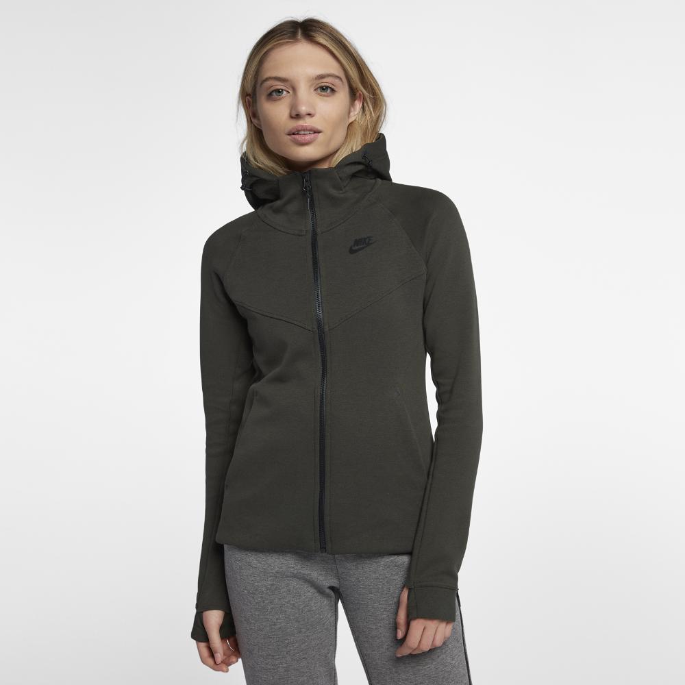 Nike. Black Sportswear Tech Fleece Windrunner Women s Full-zip Hoodie 5ab96b4337