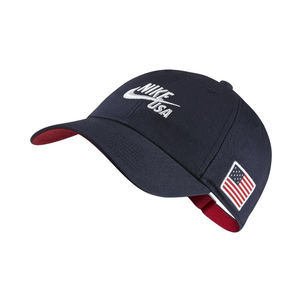 b1196de2d35 ... czech lyst nike heritage 86 americana adjustable hat blue in blue for  men 61eb9 fdf14