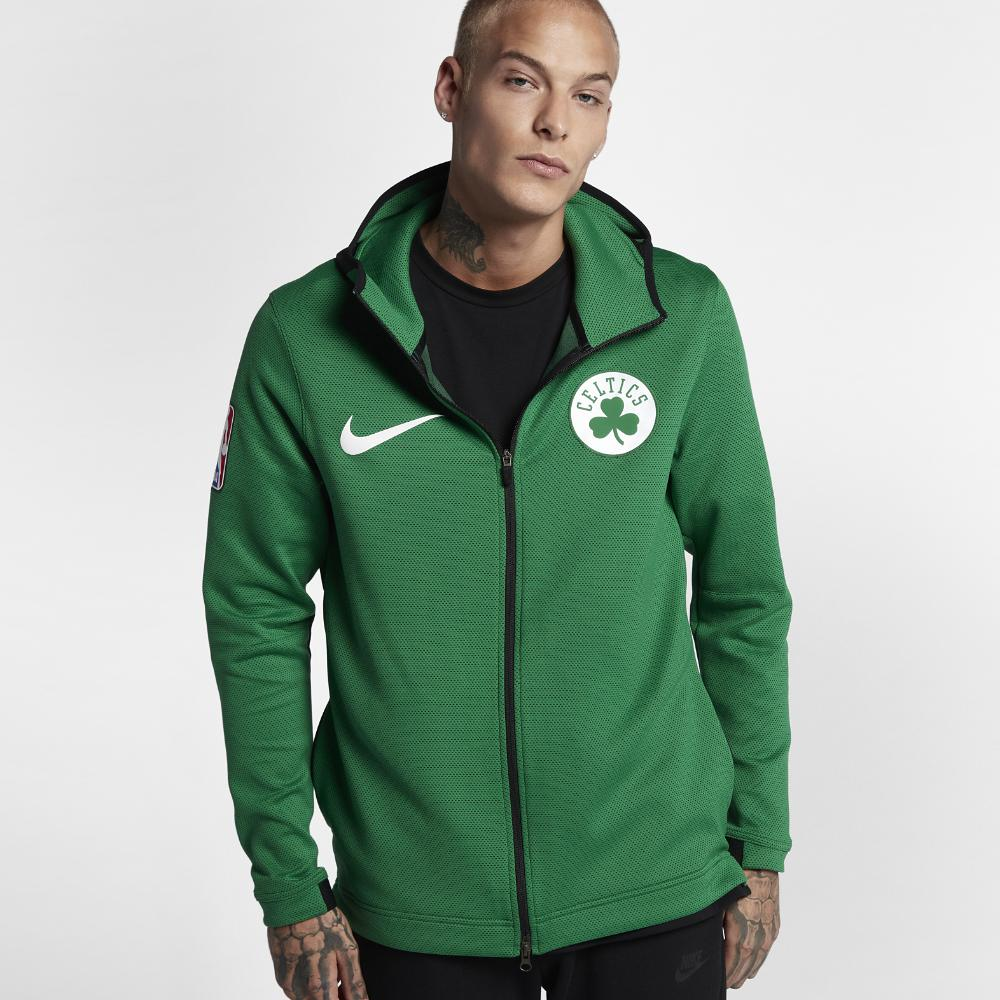 80a7cbbc1 Lyst - Nike Boston Celtics Therma Flex Showtime Hoodie in Green for Men