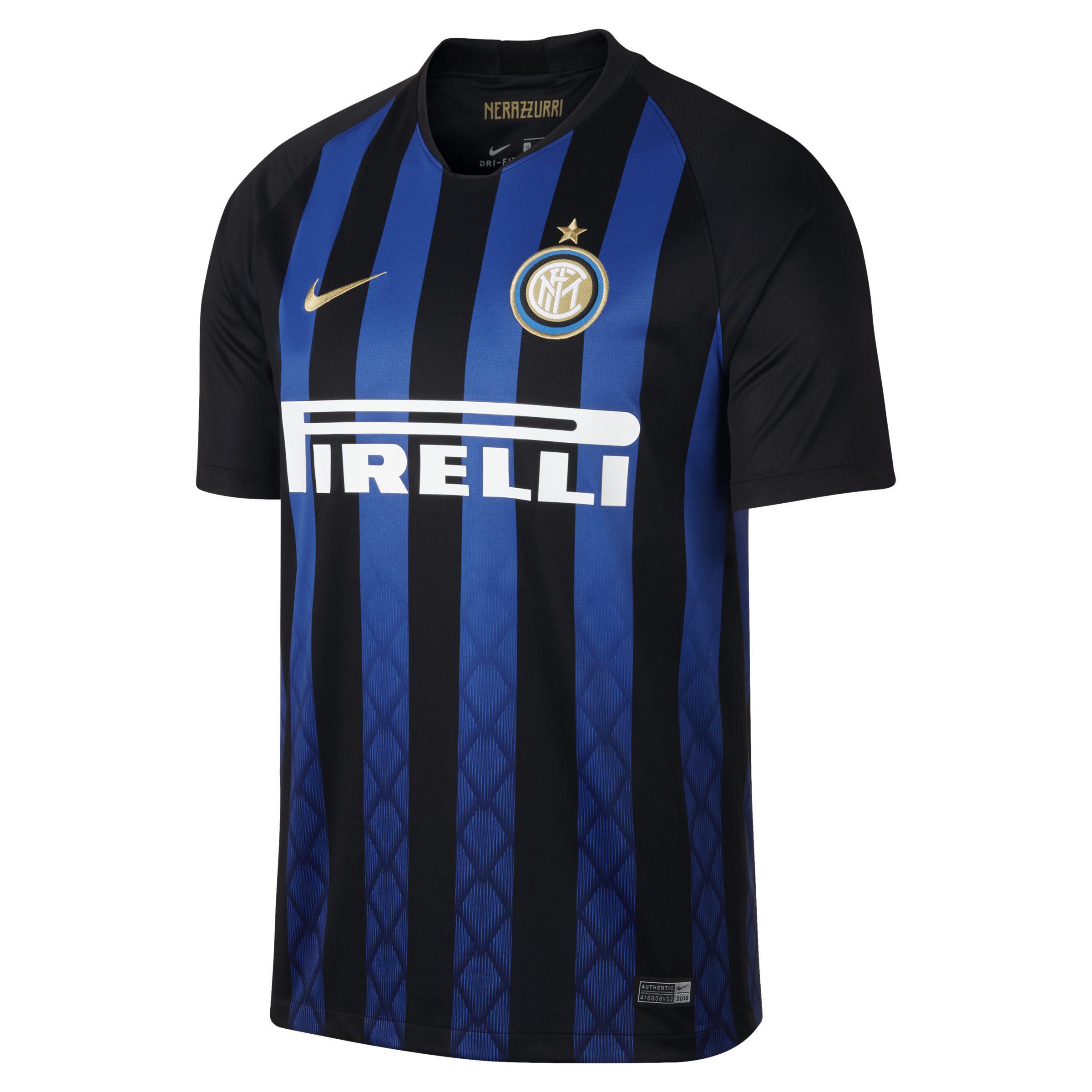 ba89dd628b7 Nike 2018/19 Inter Milan Stadium Home Football Shirt in Blue for Men ...