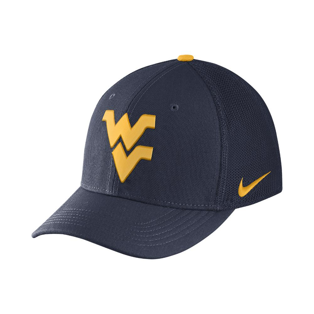 Nike. Men s Blue College Classic 99 Swoosh Flex (west Virginia) Fitted Hat 89ce902953b9