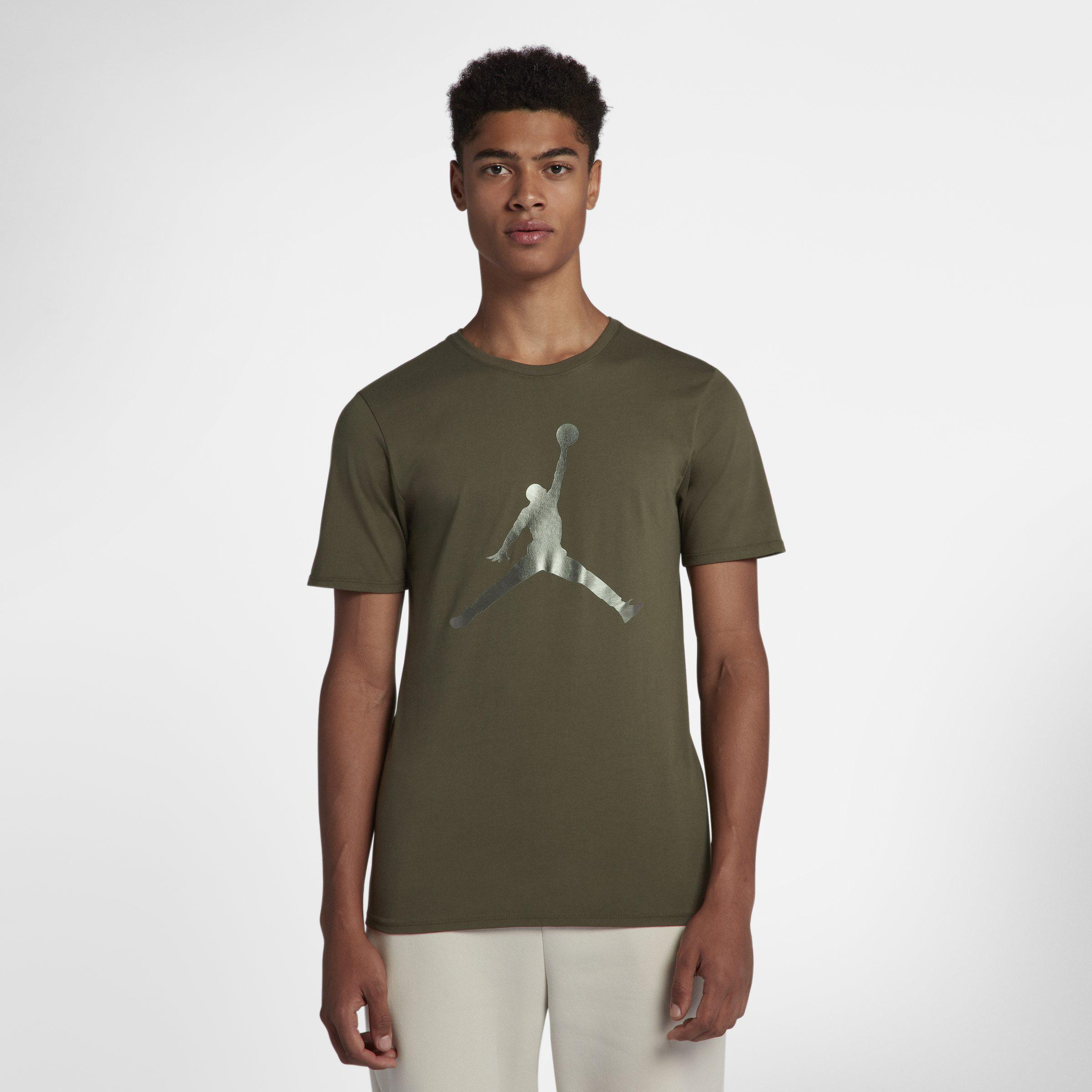 online store 32d30 113f0 Nike Jordan Lifestyle Iconic Jumpman T-shirt in Green for Men - Lyst