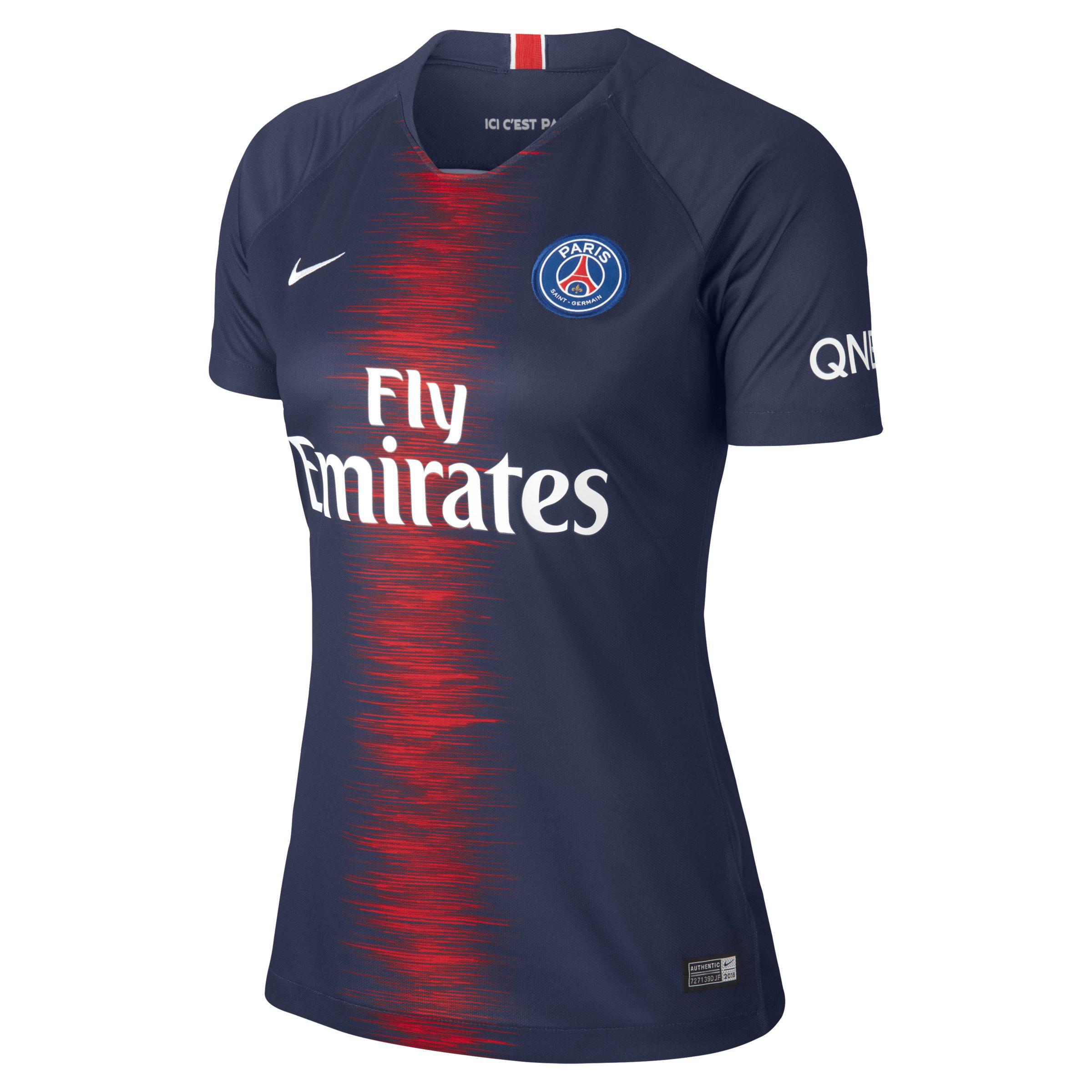 a28be80764792 Nike. Women s Blue 2018 19 Paris Saint-germain Stadium Home Football Shirt