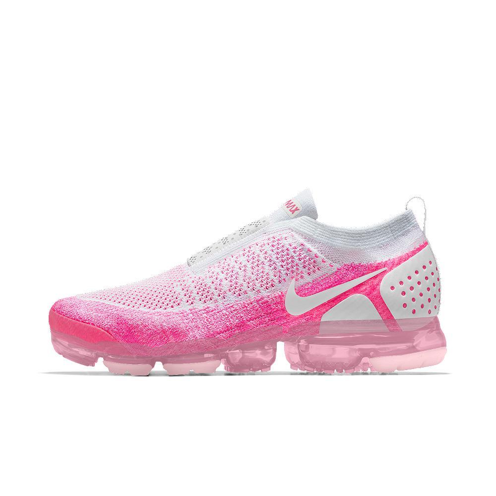0bda65b2017e0 Lyst - Nike Air Vapormax Flyknit Moc 2 Id Women s Running Shoe in Pink