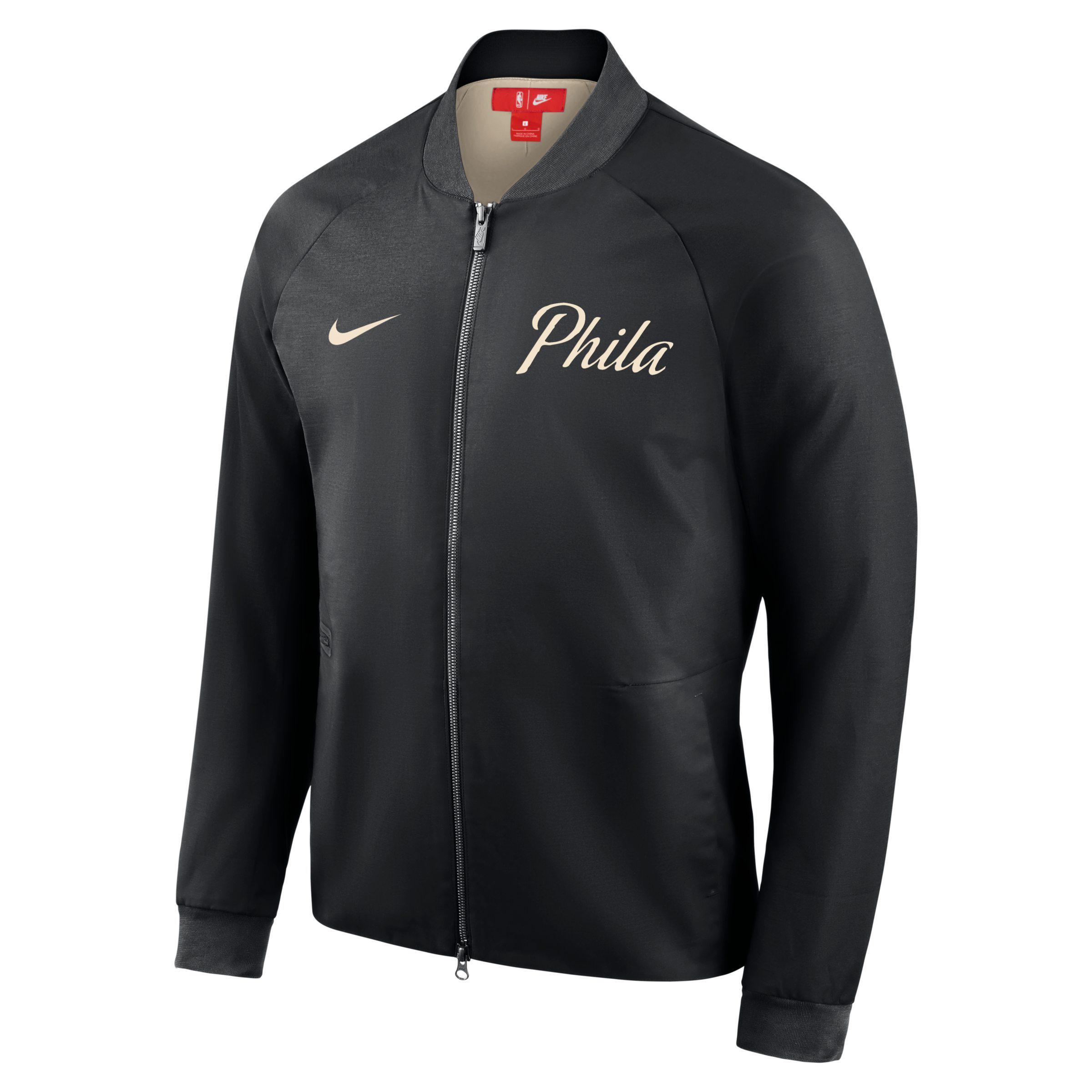 ed62f9e8e51 Nike Philadelphia 76ers City Edition Modern Nba Varsity Jacket in ...