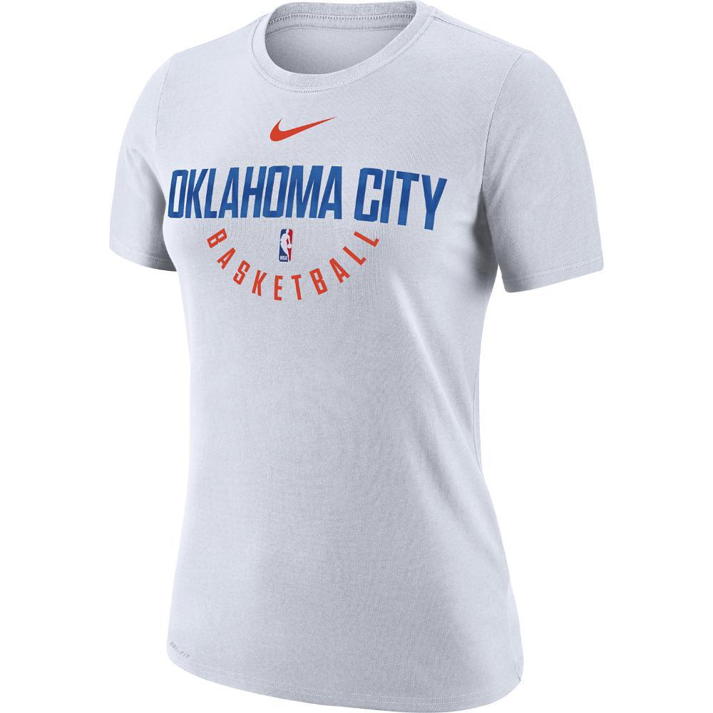 905a2aa9623 Nike Oklahoma City Thunder Dry Women's Nba T-shirt in White - Lyst