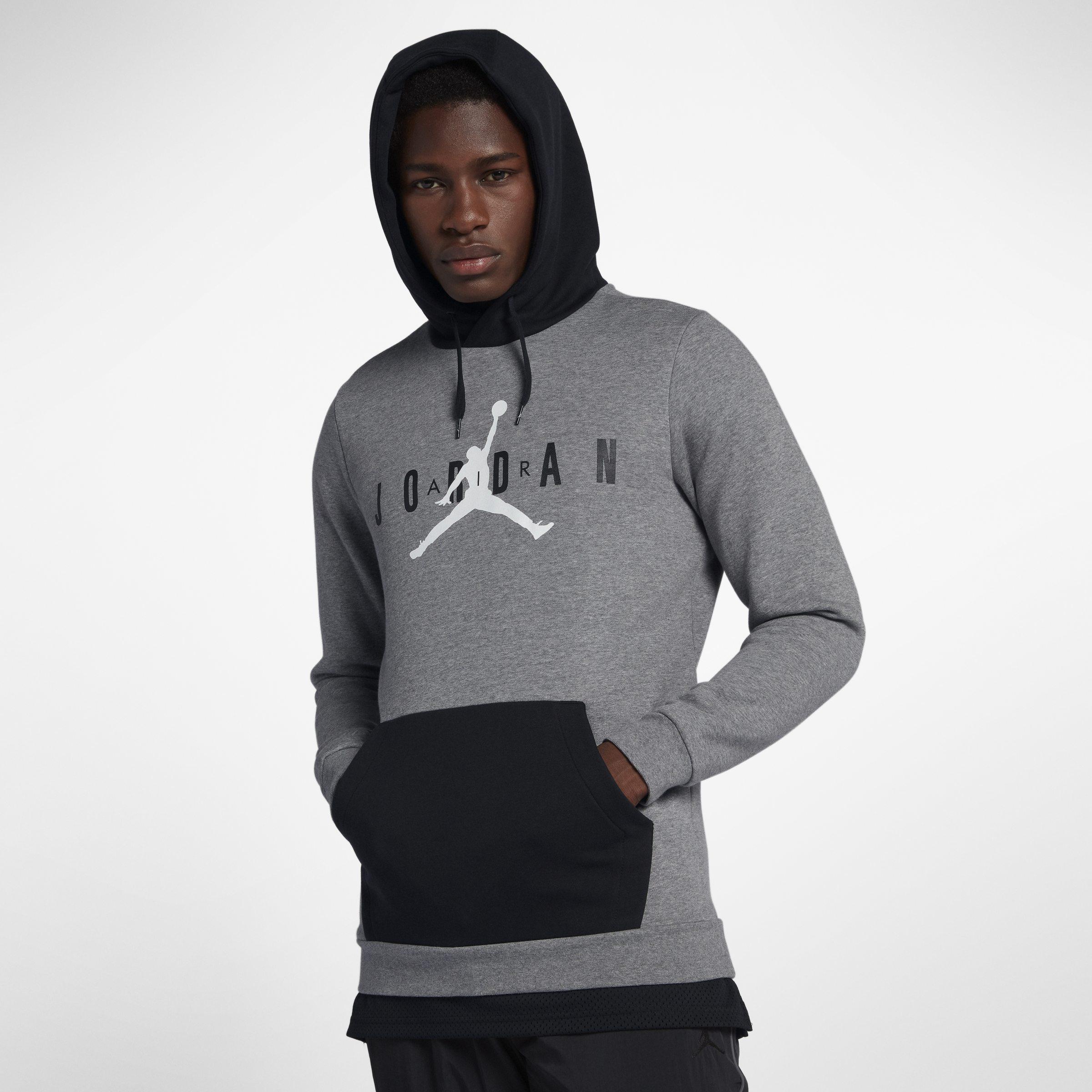 7d3ce2bbf06b46 Nike Jordan Jumpman Air Fleece Pullover Hoodie in Gray for Men - Lyst