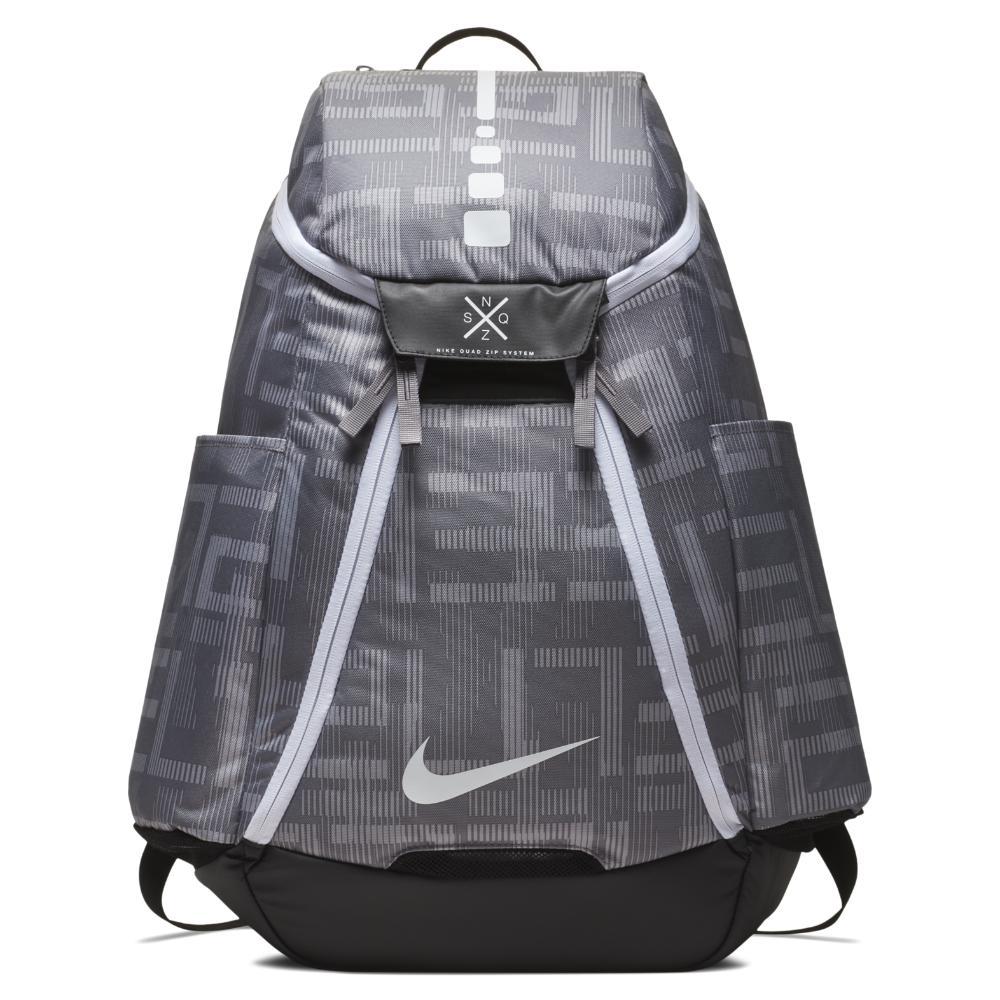 Nike. Men s Gray Hoops Elite Max Air Team 2.0 Graphic Basketball Backpack  ... e7d92971a9f5b
