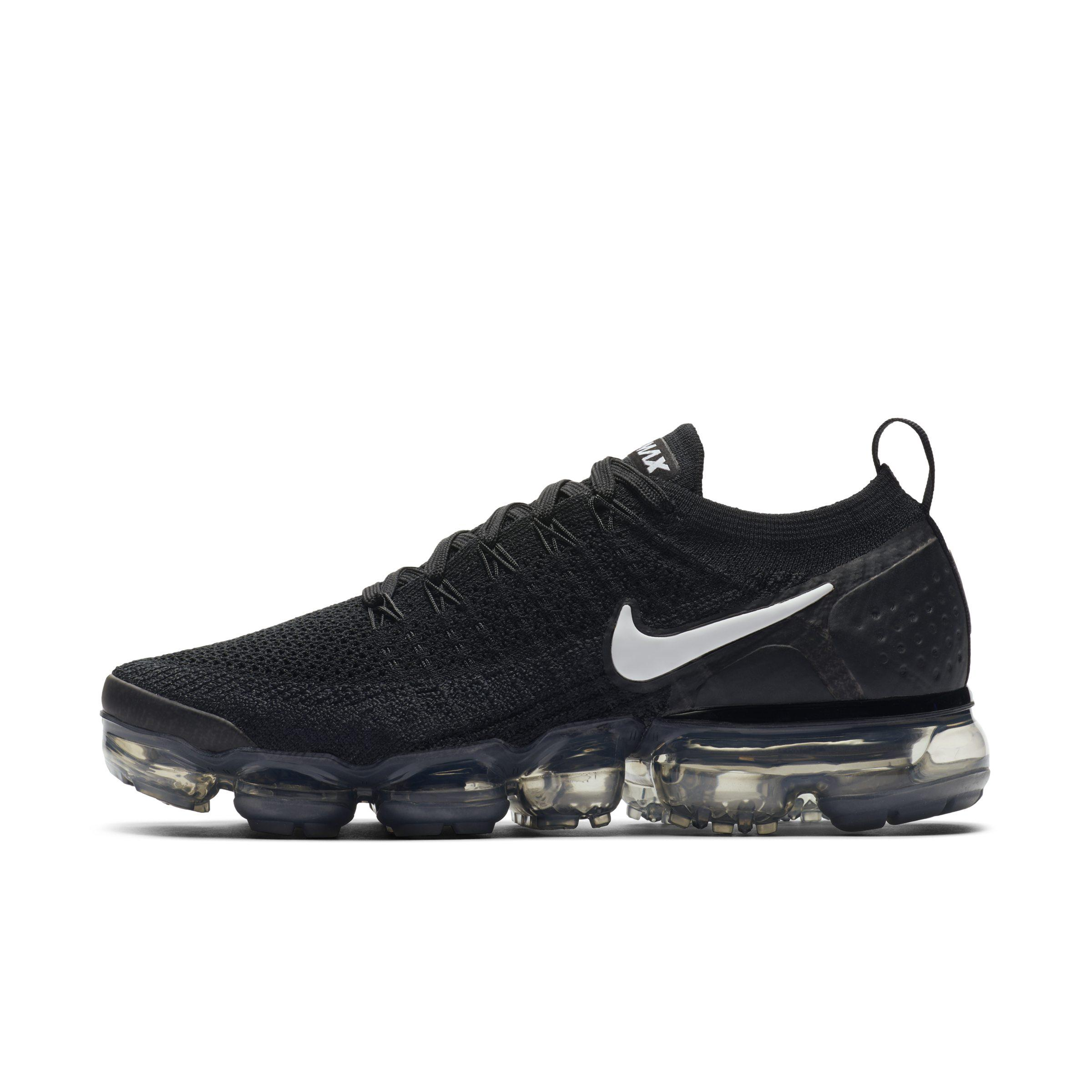 ab9e39cf97632 Nike Air Vapormax Flyknit 2 Running Shoe in Black - Lyst