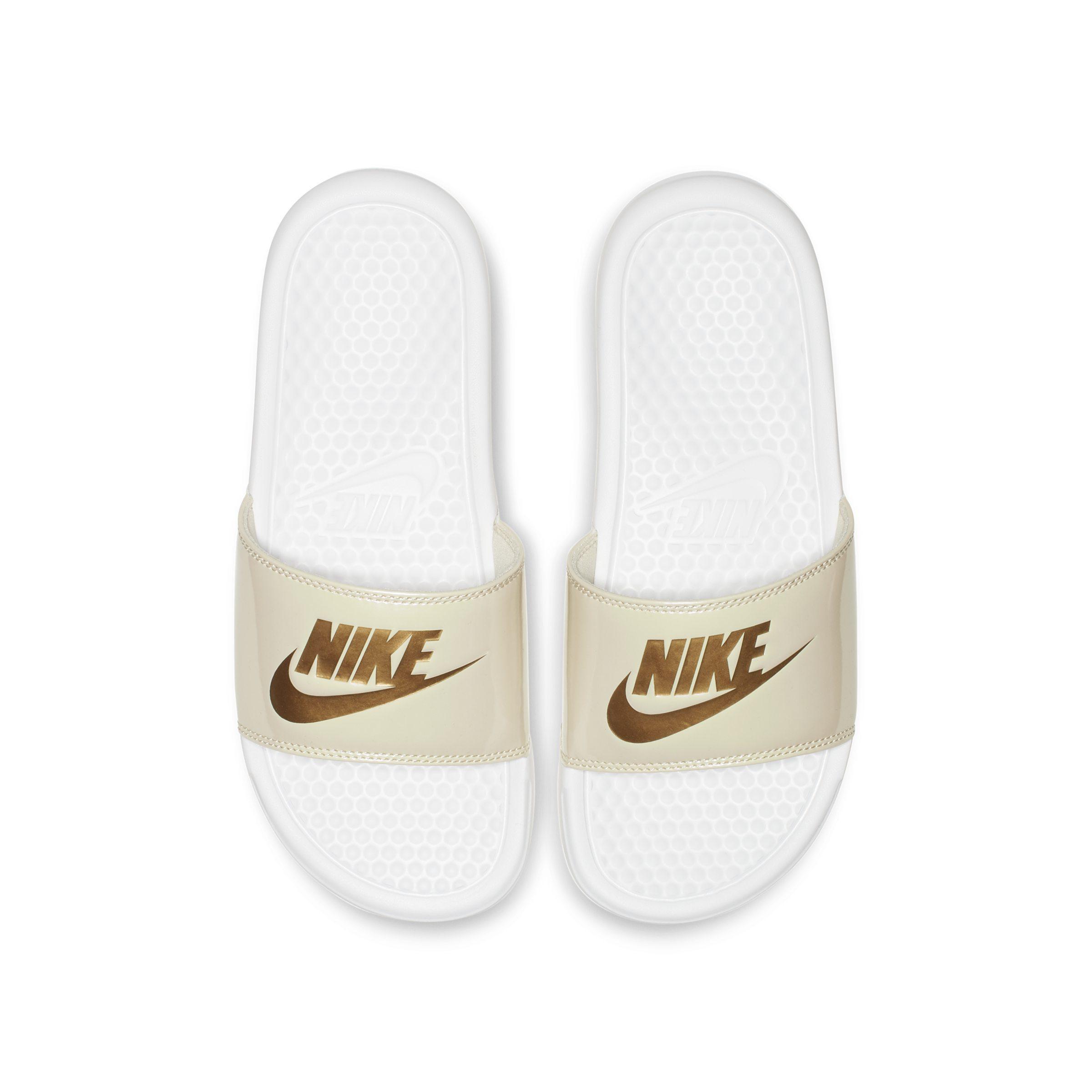 794d5fe0bcf3ec Nike Benassi Jdi Metallic Slide in White - Lyst