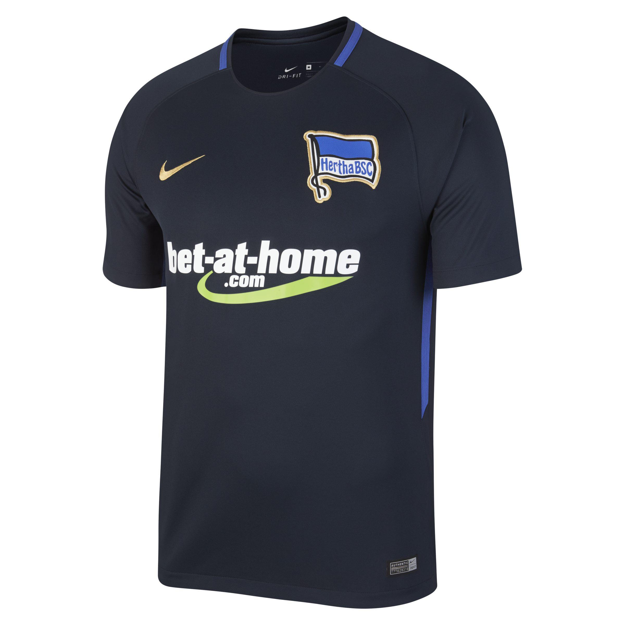 Nike 2017 18 Hertha Bsc Stadium Away Football Shirt in Blue for Men ... 746706d0e