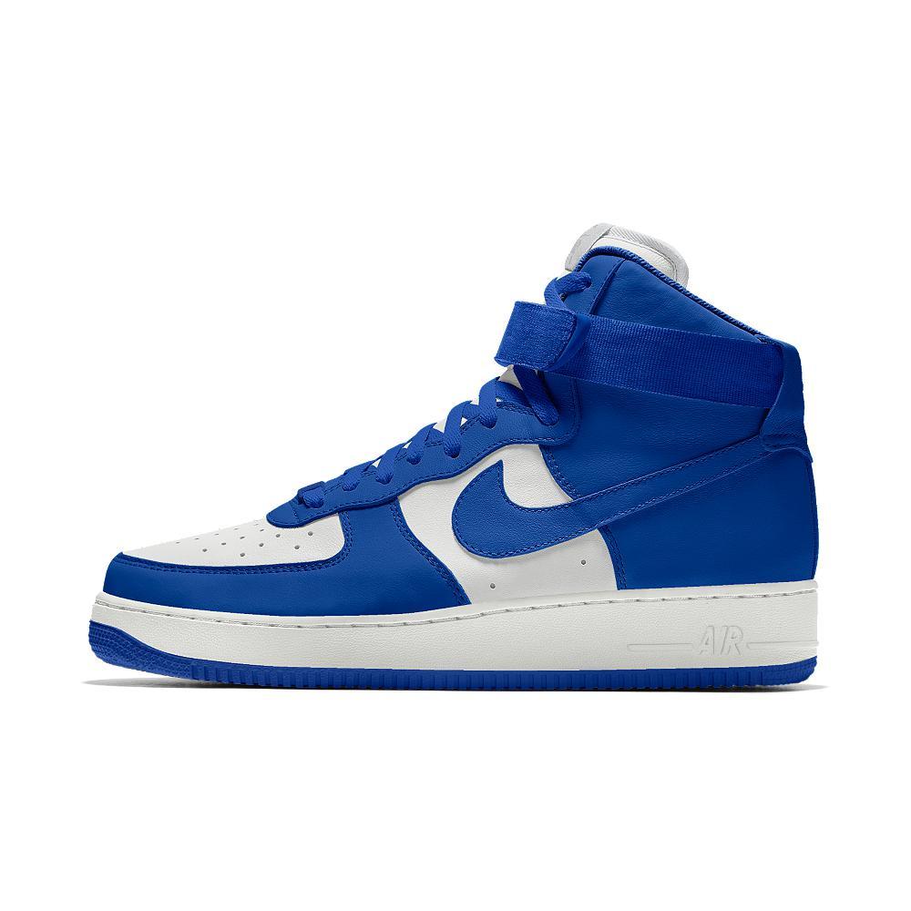Lyst Nike Air Force 1 High Id En Hombres Zapato En Id Color Azul Para Hombres df2269