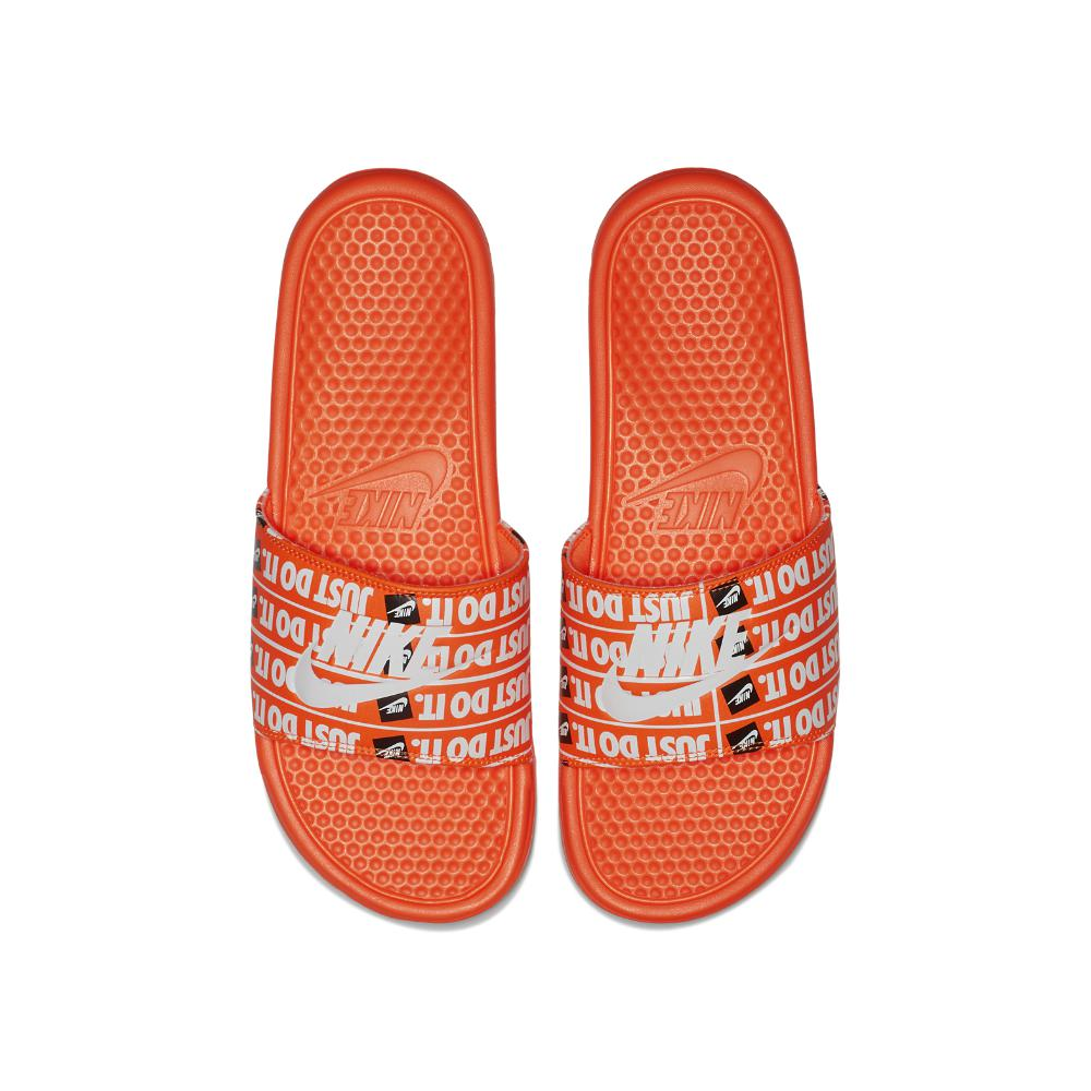 1b06a9f41ebae Lyst - Nike Benassi Just Do It Print Men s Slide Sandal in Orange ...
