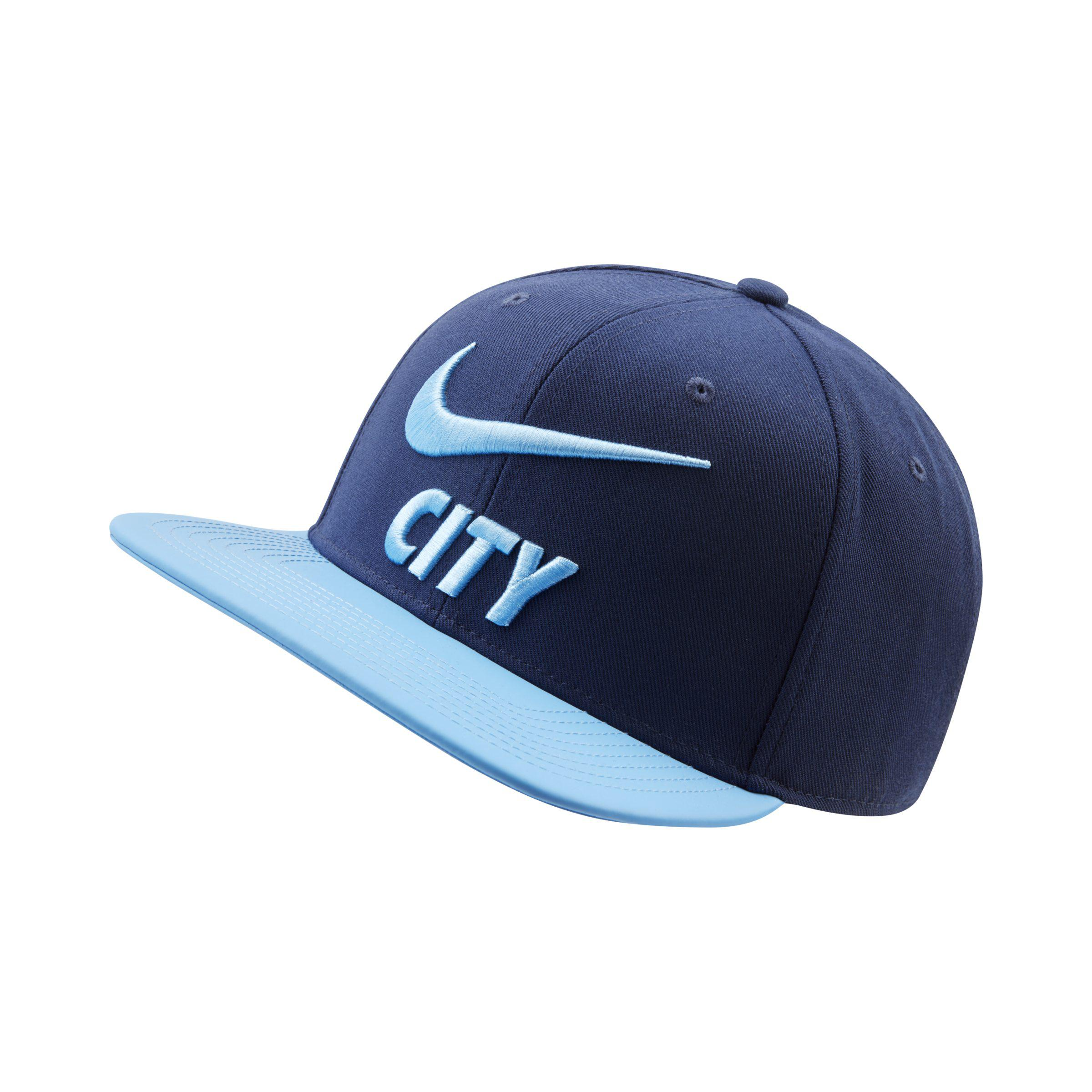1b0f826f22f63 Nike Manchester City Fc Pro Adjustable Hat in Blue - Lyst