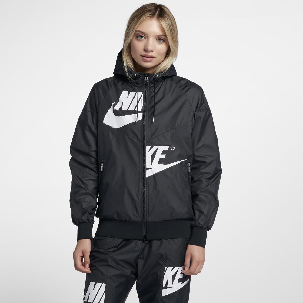 Lyst - Nike Sportswear Windrunner Women s Jacket in Black c7c2a9173