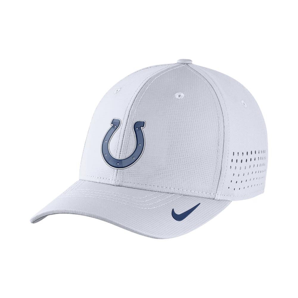 huge discount 00793 b74e9 ... australia lyst nike swoosh flex nfl colts fitted hat in white for men  c556f 998c5