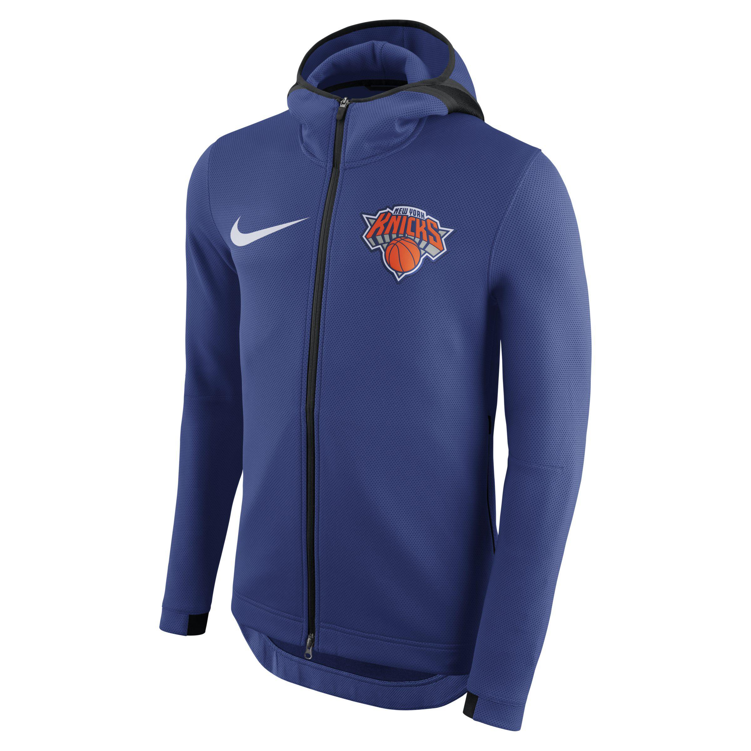 0466e2ab6a9 Nike New York Knicks Therma Flex Showtime Nba Hoodie in Blue for Men ...