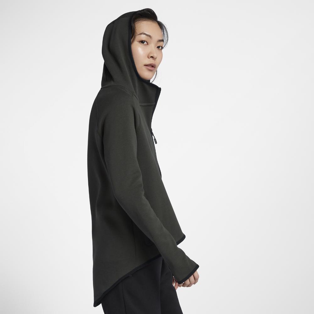 23bbac8a931 Lyst - Nike Sportswear Tech Fleece Women s Full-zip Cape in Black