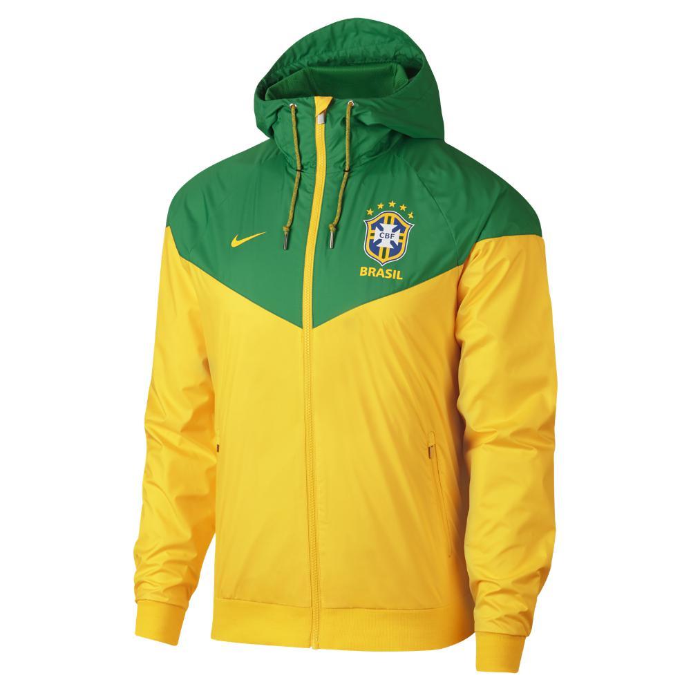 b843bd153d Lyst - Nike Brasil Cbf Windrunner Men s Jacket in Green for Men